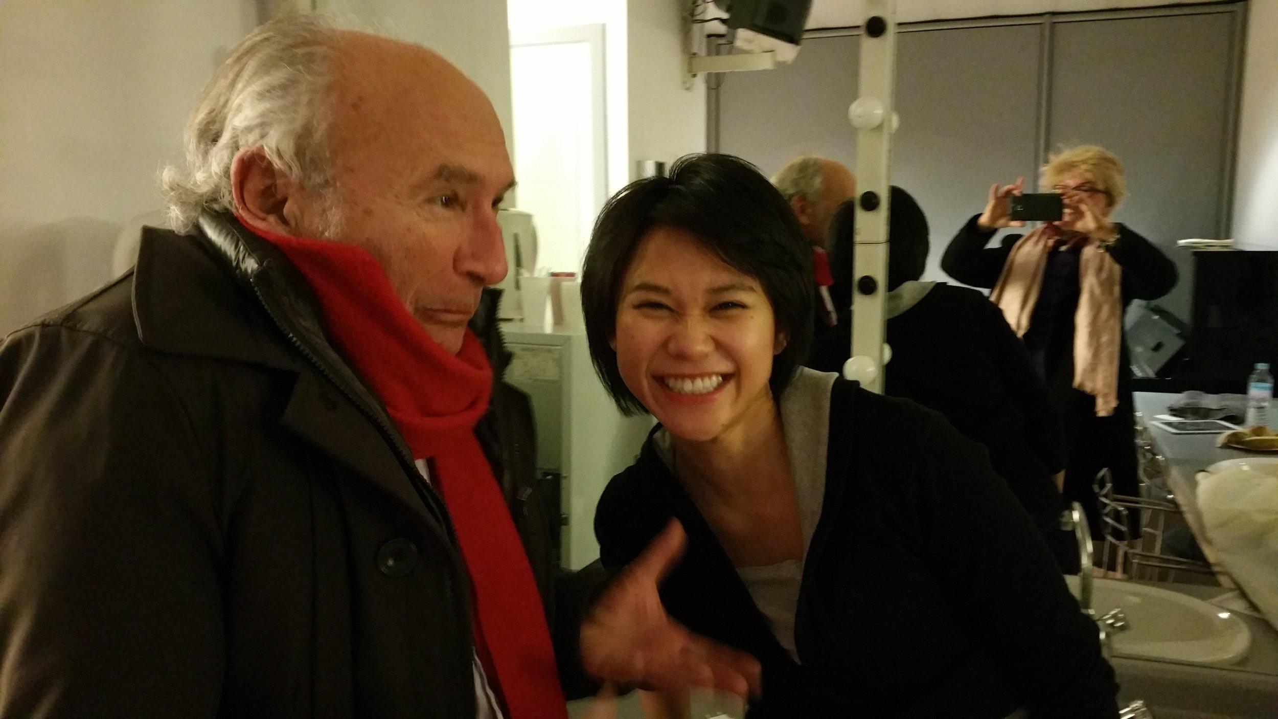 André Furno avec Yuja Wang après un récital. L'esprit de détente est au rendez-vous
