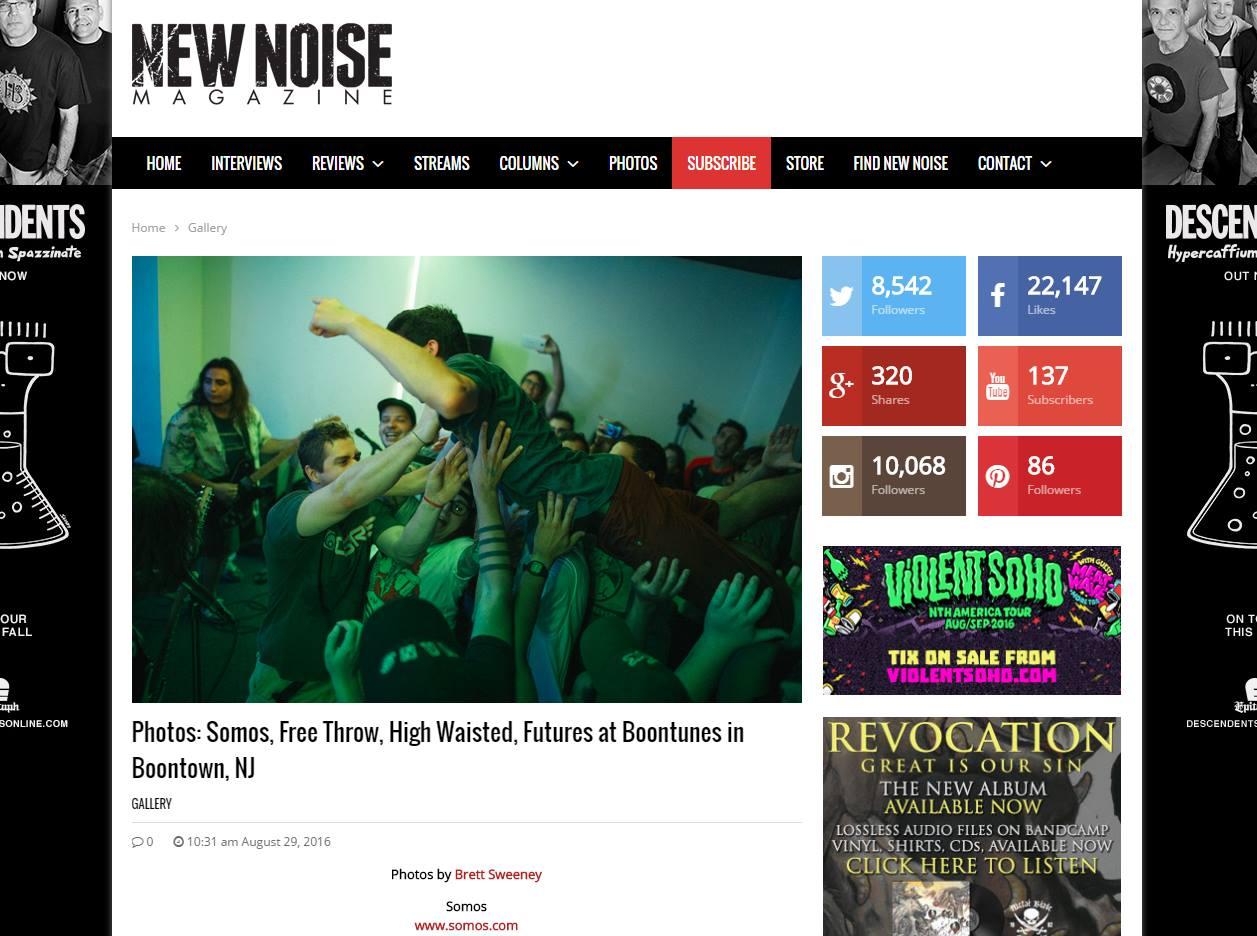 Photos in New Noise Magazine