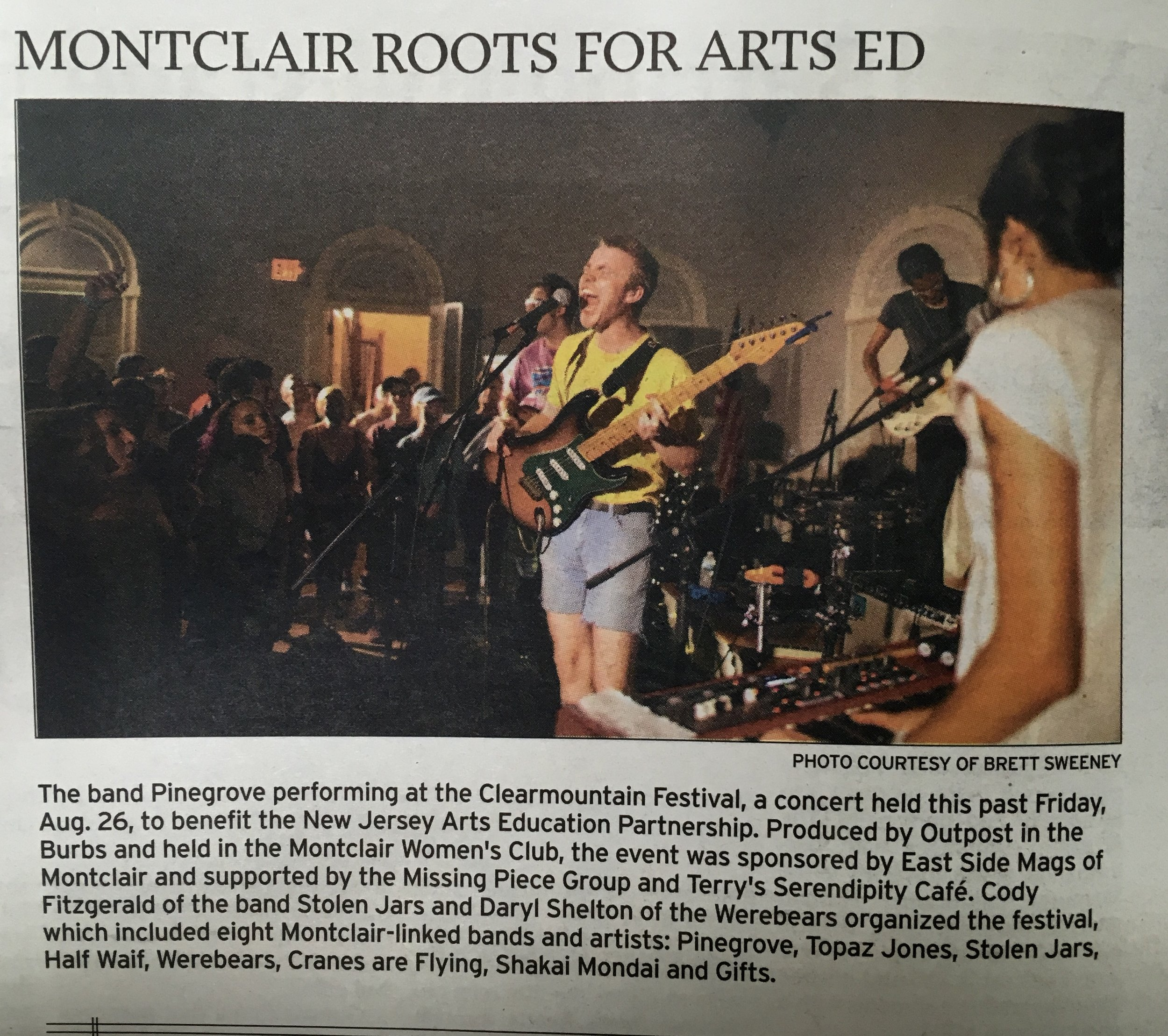 Photo used in the Montclair Times