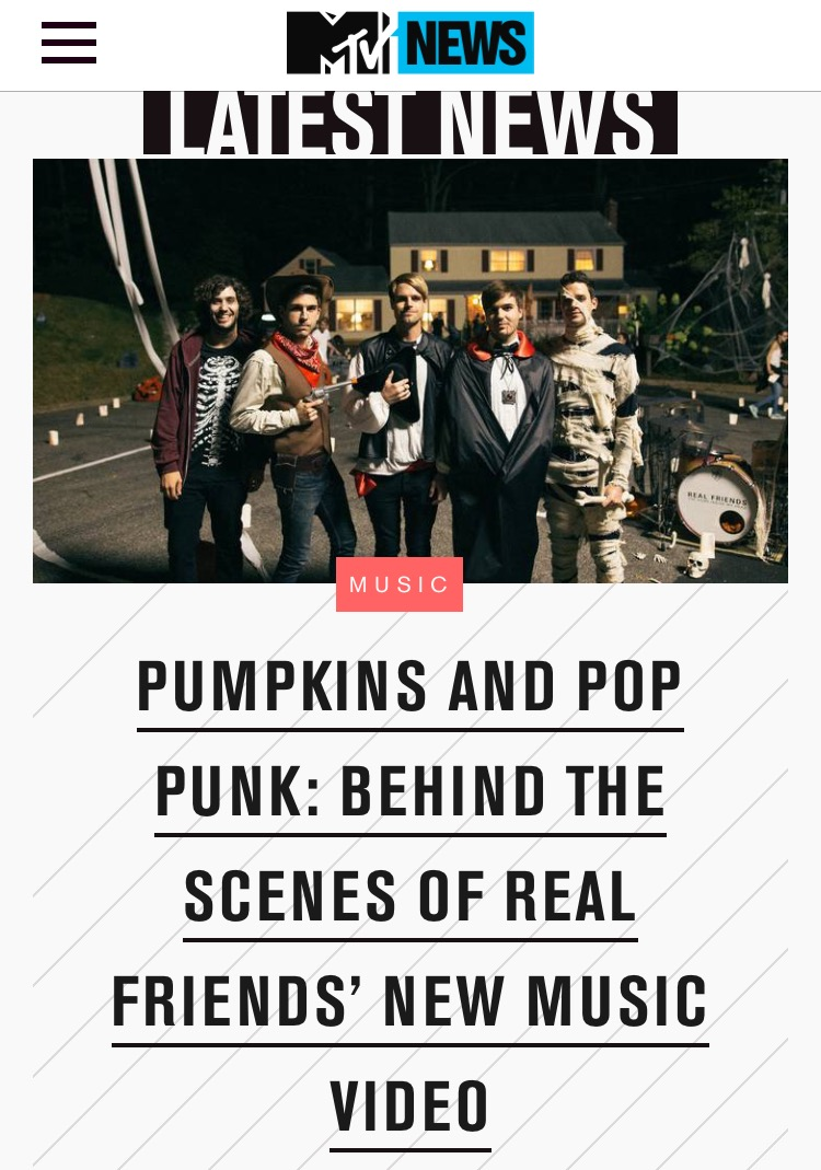 Multiple photos featured in a MTV article.
