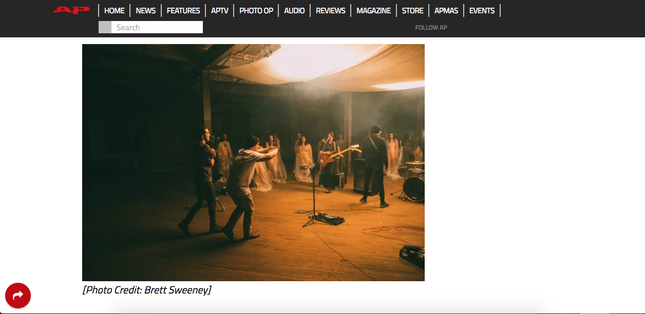Photo used for Alternative Press article.