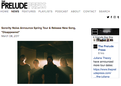 Photo used in Prelude Press Article