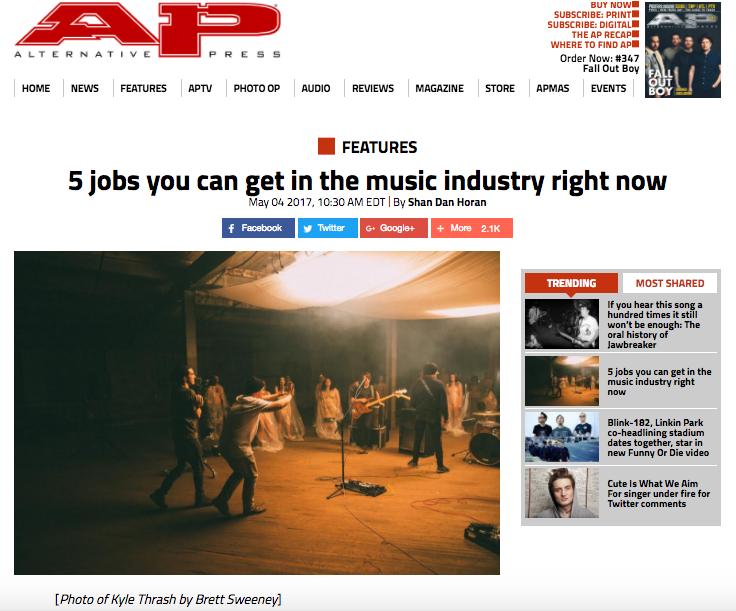 Photo used in Alternative Press article