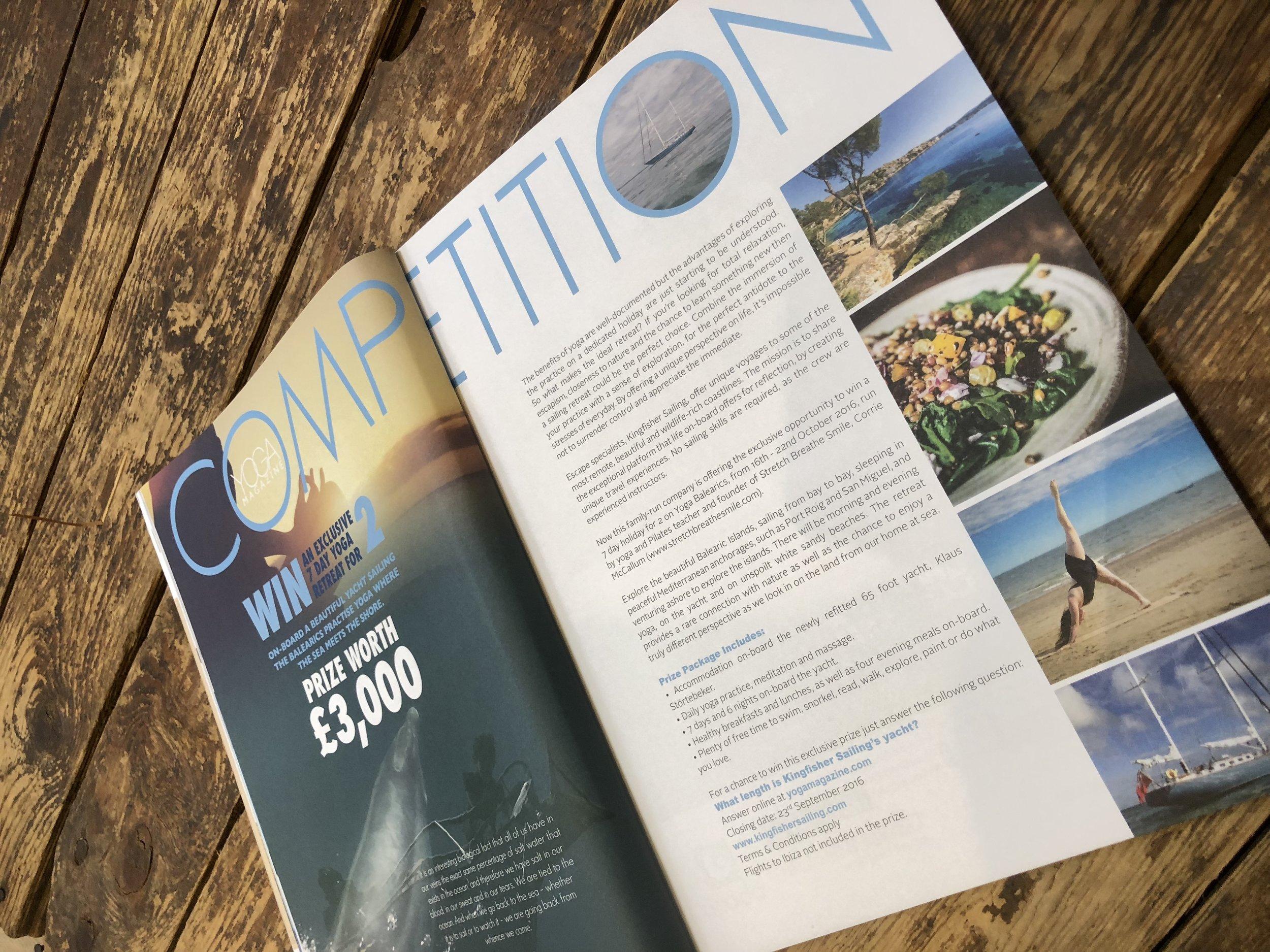 Yoga Magazine  - September 2016