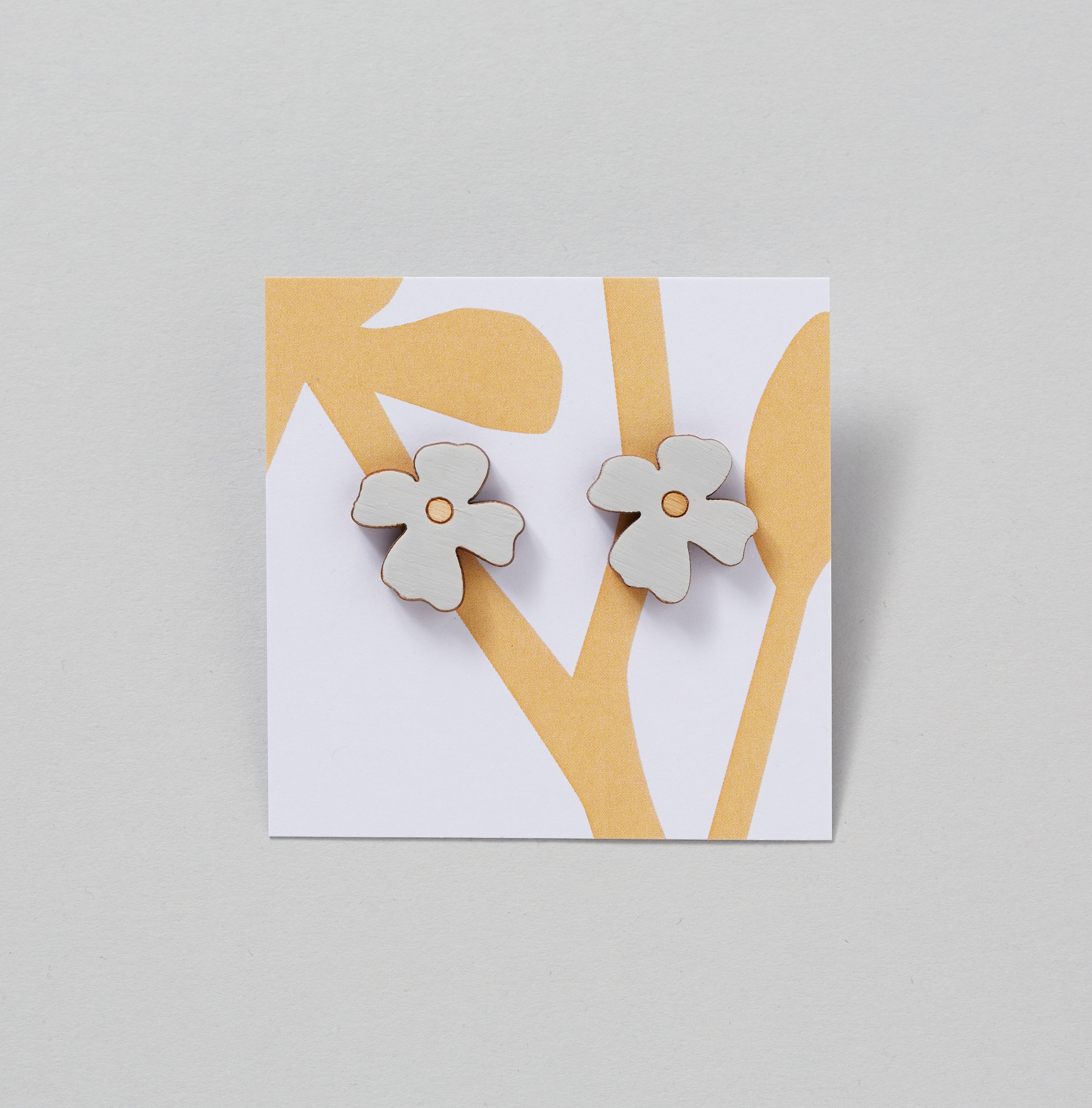 Pretty wooden earrings inspired by British wildflowers - lightweight and easy to wear.