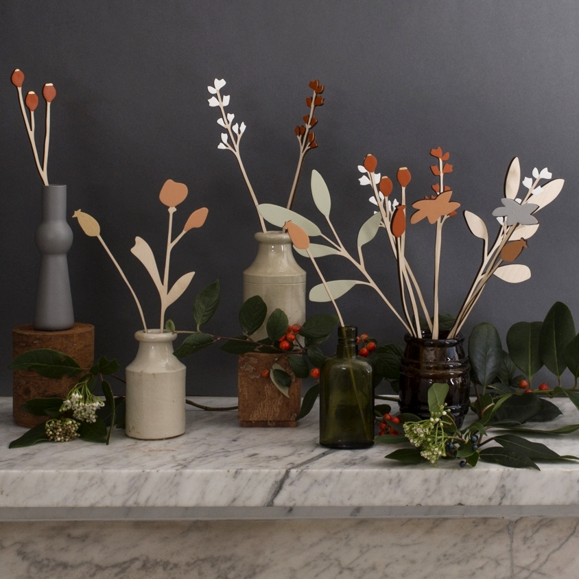 Deck the halls with bespoke displays of wooden flowers.