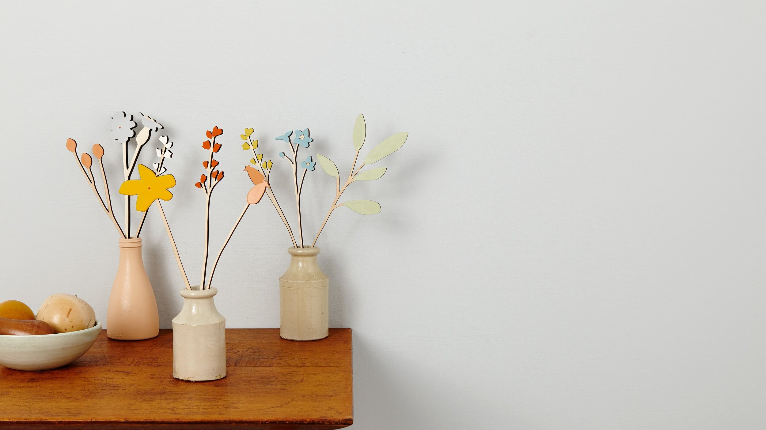 FOLK - A new collection of wooden ornaments celebrating folk culture and traditions.