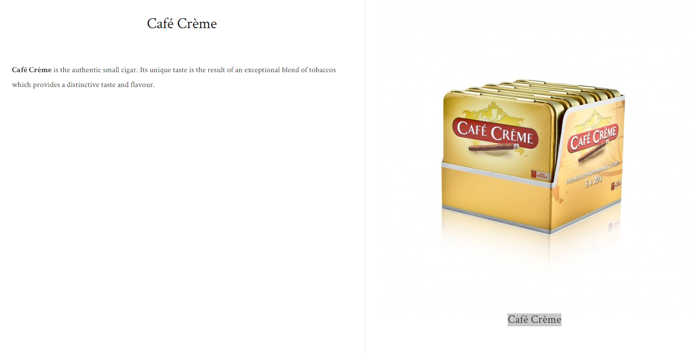 cafe creme noir$19.99 (package of 20)