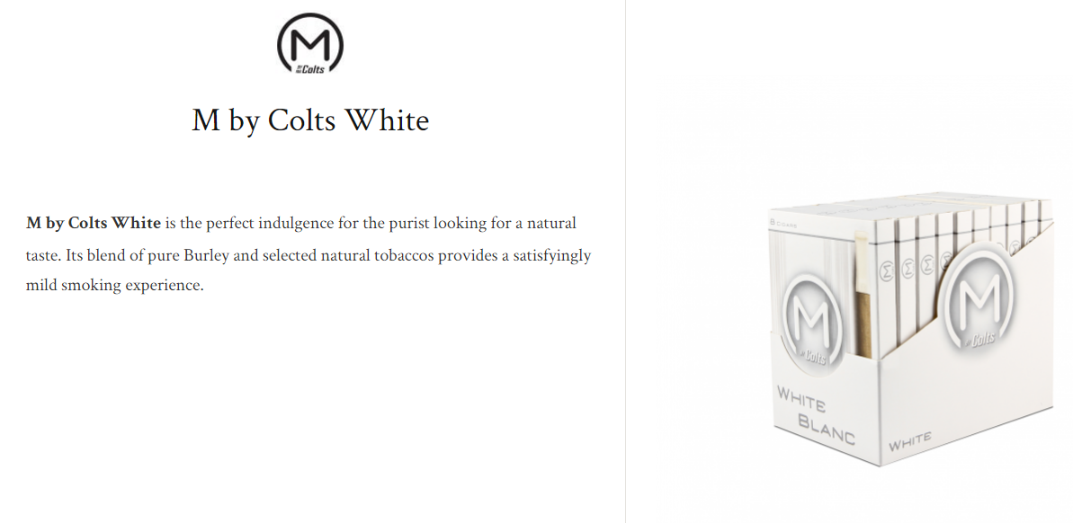 M by colts white $8.41+ (package of 8)