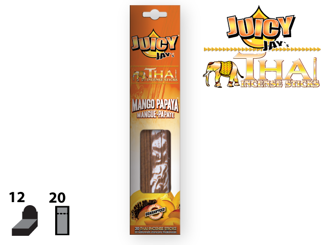 JUICY JAY'S® THAI INCENSE STICKS – MANGO PAPAYA