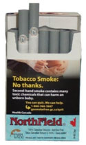 NorthField Regular (blue)-Premium all Canadian naturally aged tobacco;  no additives