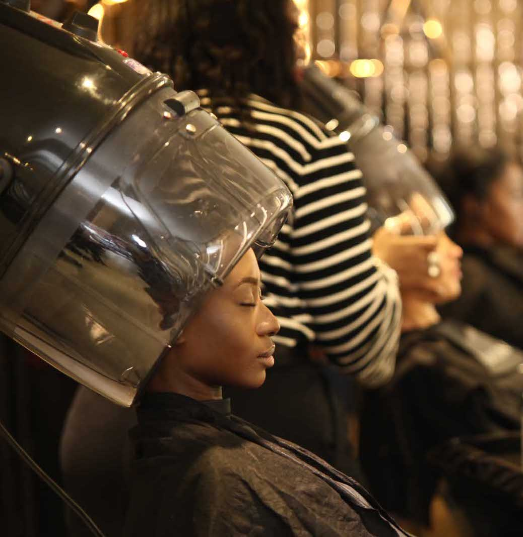 - Hair was then covered with a plastic cap and left to dry for 30 minutes with a five-minute cool down time