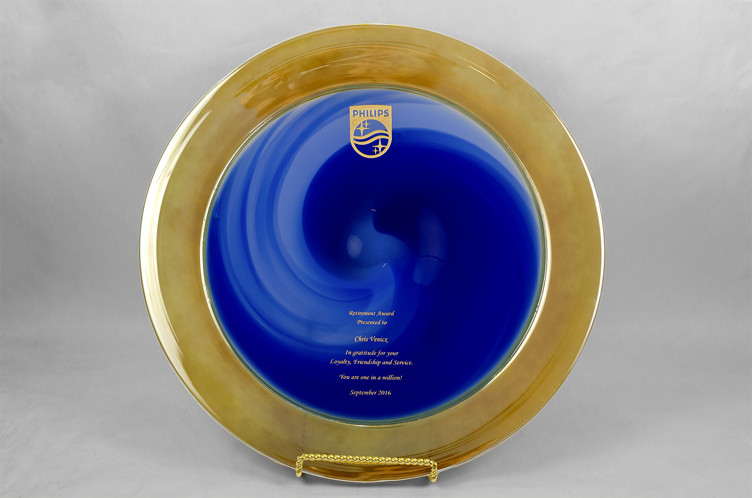 Platter with Engraving