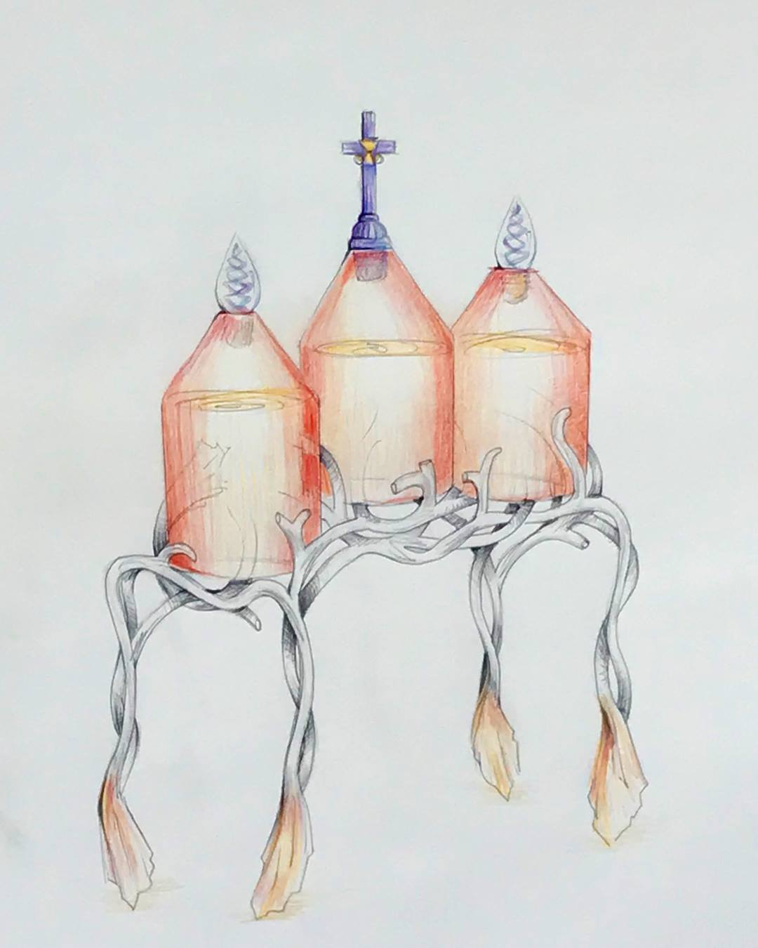 Archbishop Gustavo has commissioned us to make nine 5 gallon vessels for the blessing of the holy oils for the entire archdiocese. They will appear in the sanctuary where the Archbishop will blow the Holy Spirit into them during the Chrism Mass on the Tuesday of Holy Mass on the Tuesday of Holy Week. Present will be the whole priesthood to receive their own oils for each project.
