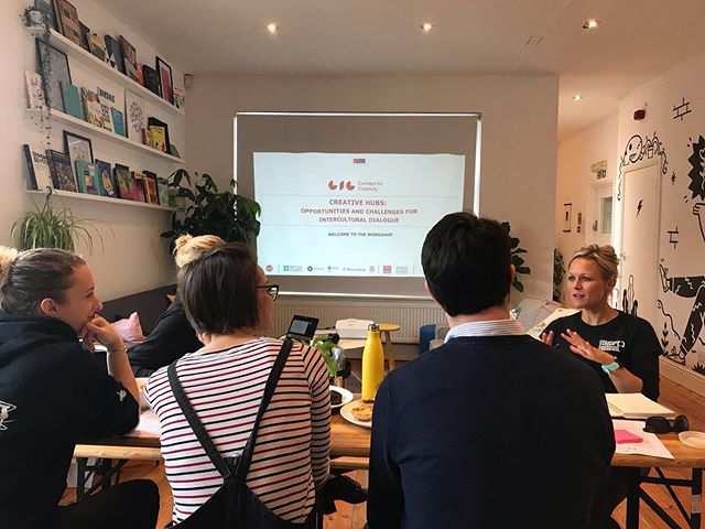 This morning we hosted the Creative Hubs workshop about challenges and opportunities for intercultural dialogue. It was a great chance to explore the roles that creative hubs have in this conversation, with some great people☺️ #connectforcreativity  @atolyeist @biosathens @novaiskraworkspace @britishcouncil @turkeybritishcouncil