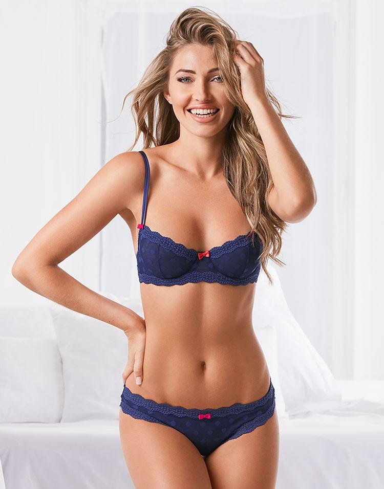 Adore Me Model Simone Villas Boas Wearing Edita Unlined