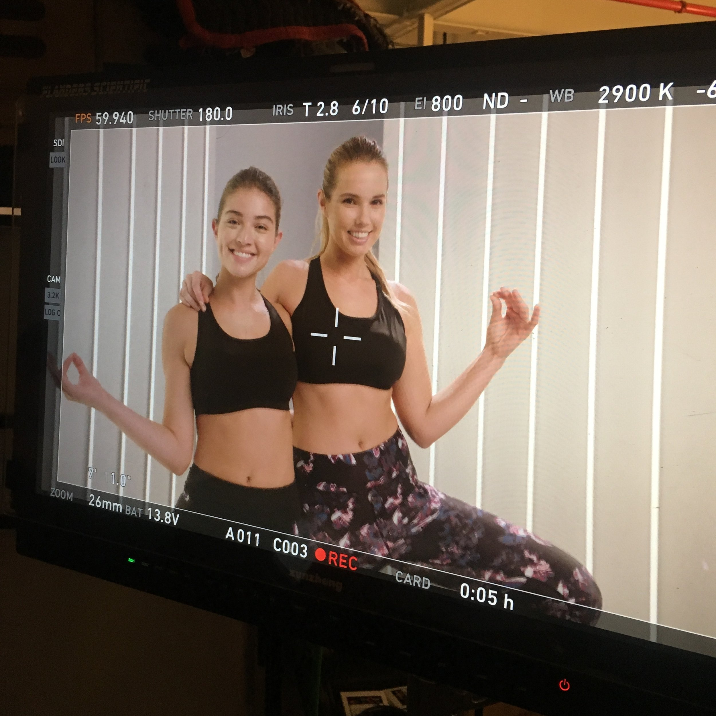 Adore Me BTS Activewear TV Shoot 3