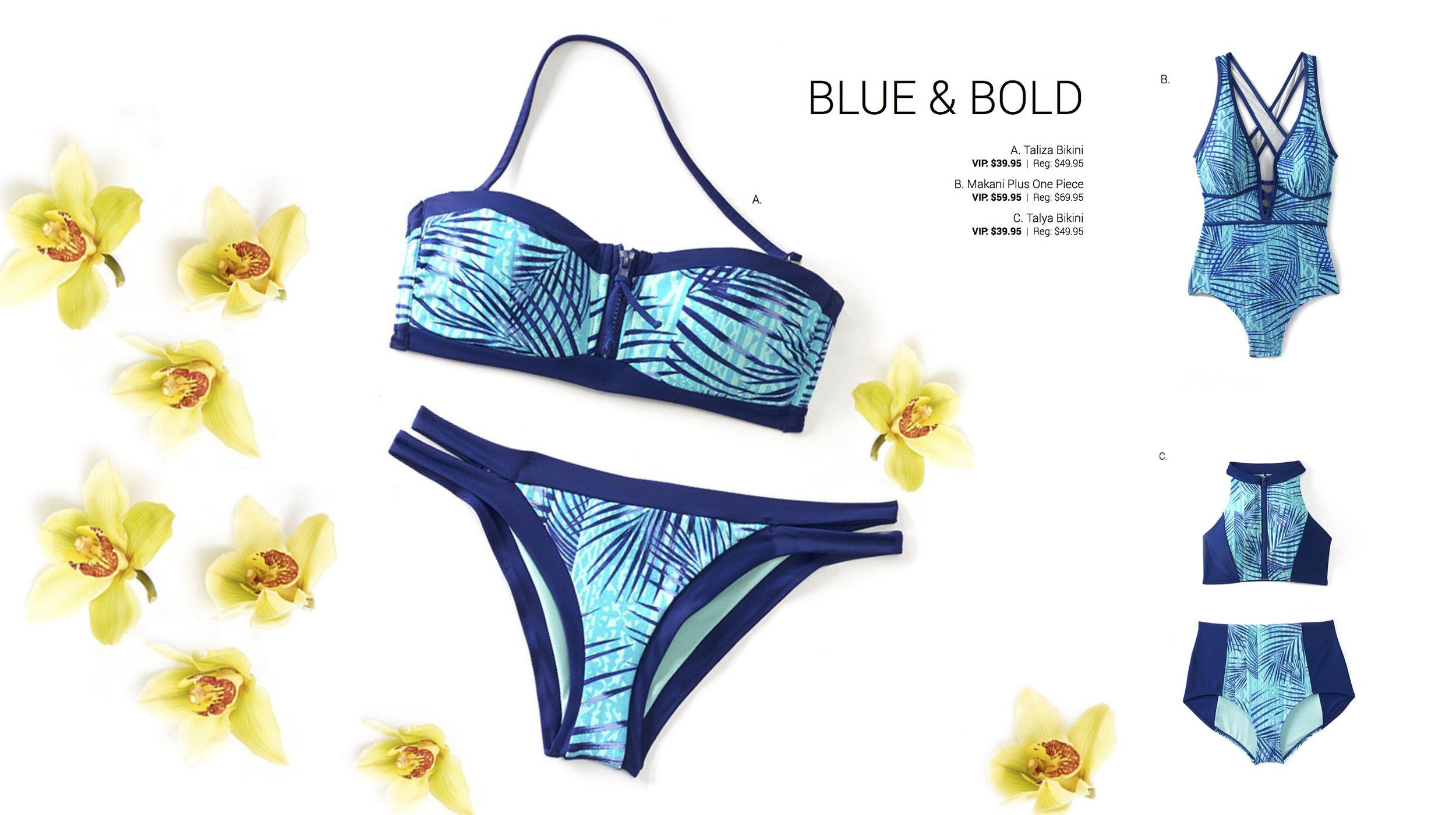 Adore Me Summer Swim 2017 Blue