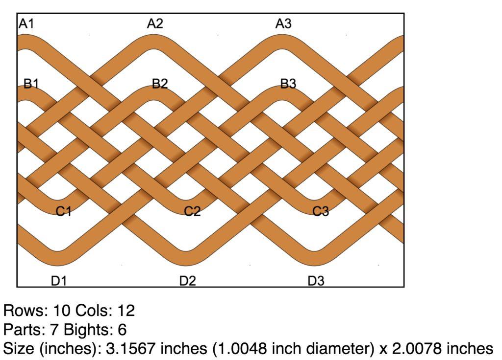"""Stretch the knot to the size of your mandrel. In this case, about 1"""" in diameter and 2"""" tall."""