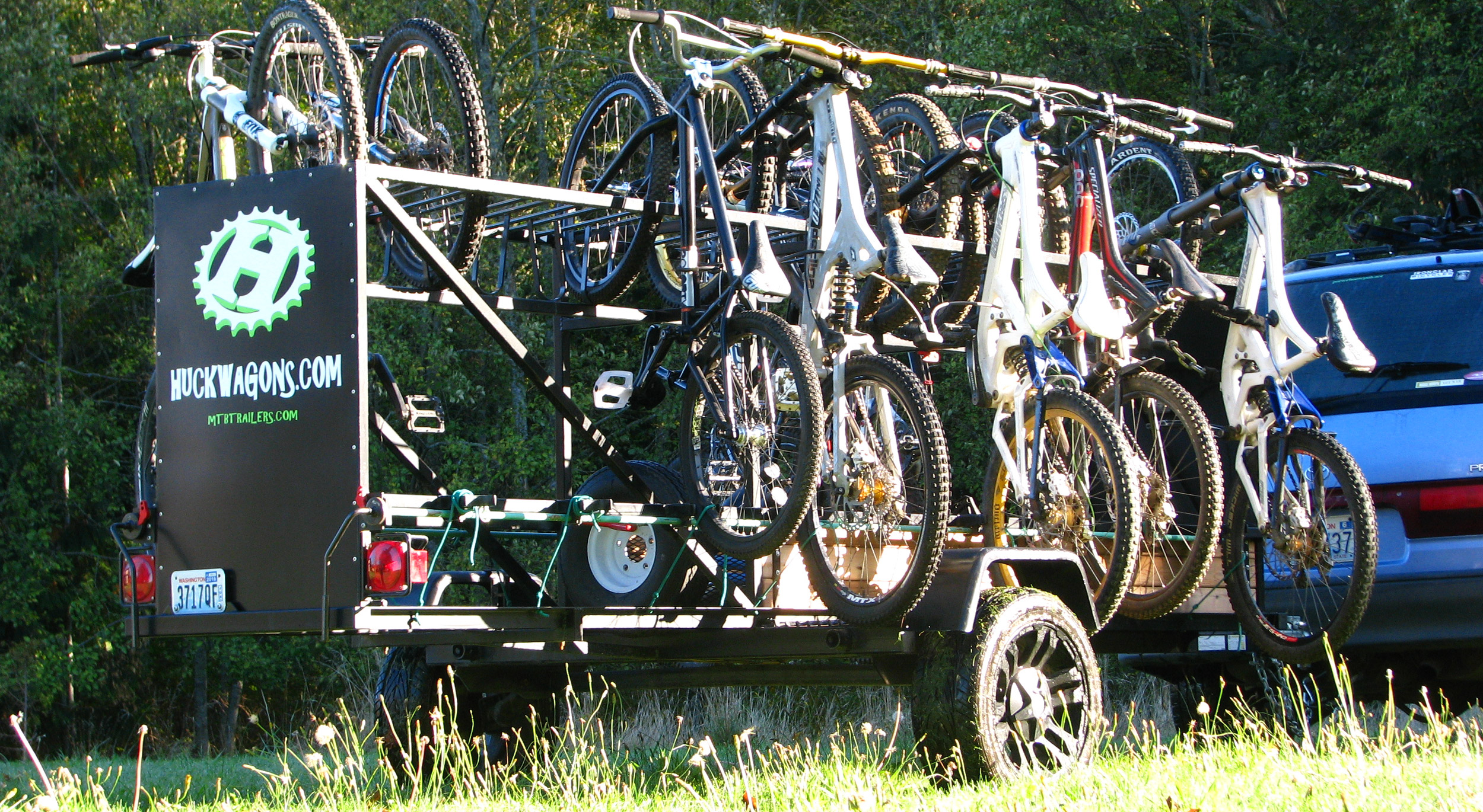 Huckwagons Mountain Bike Shuttle Trailers