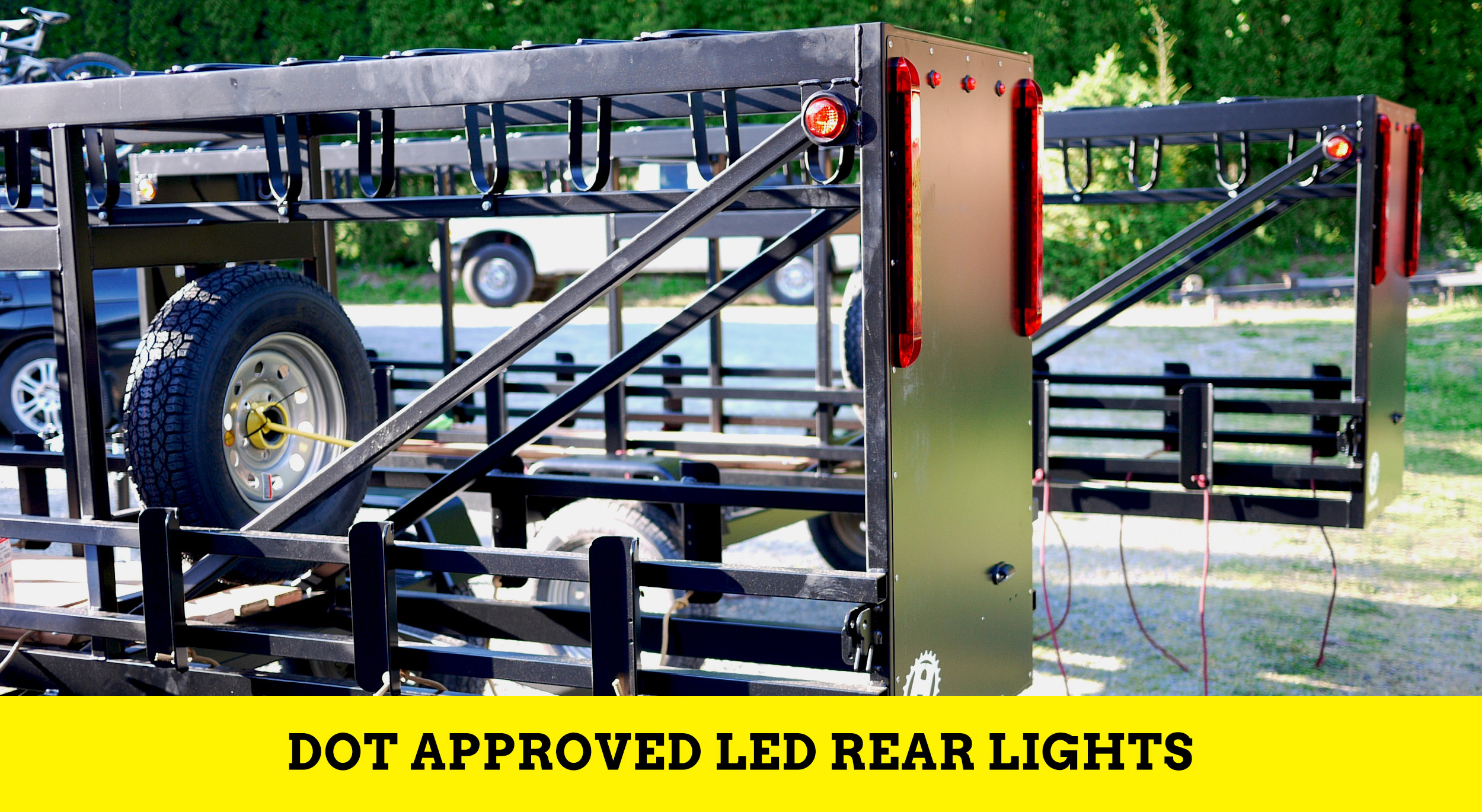 Huckwagons Mountain Bike Shuttle Trailer DOT approved LED Rear lights