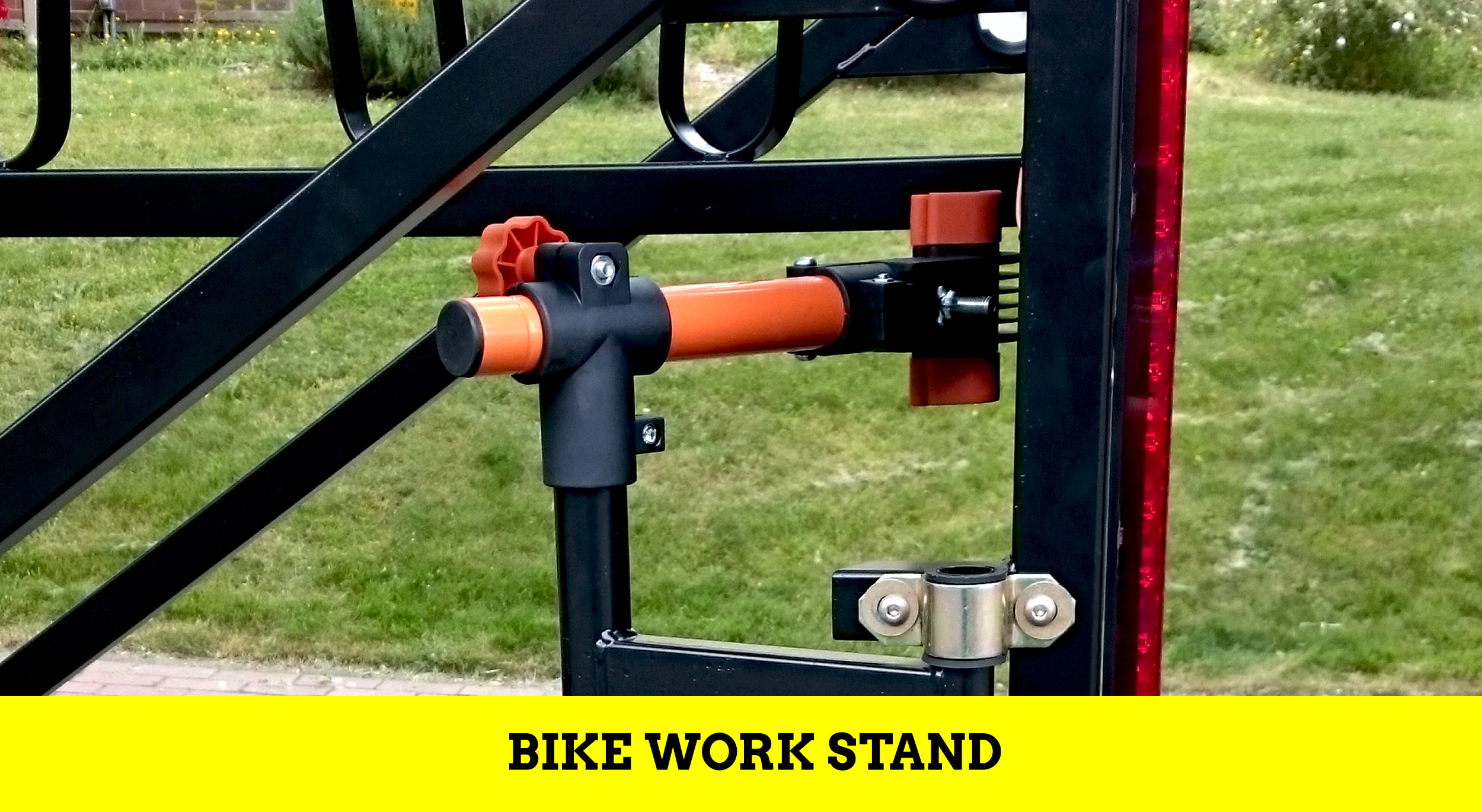 Huckwagons Mountain Bike Shuttle Trailer bike work stand
