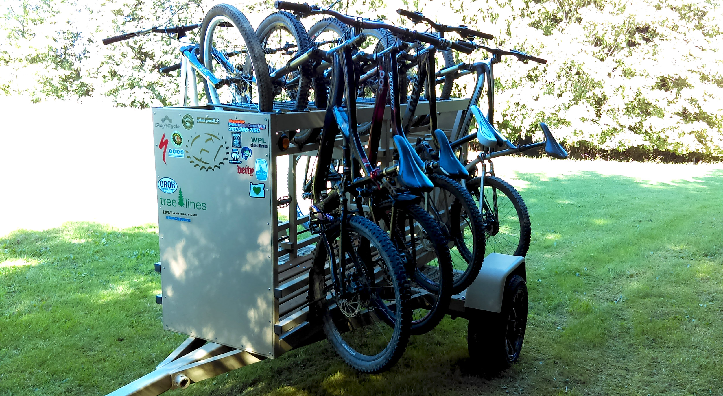 Small Huckwagons Mountain Bike Shuttle Trailers for many adventure activities