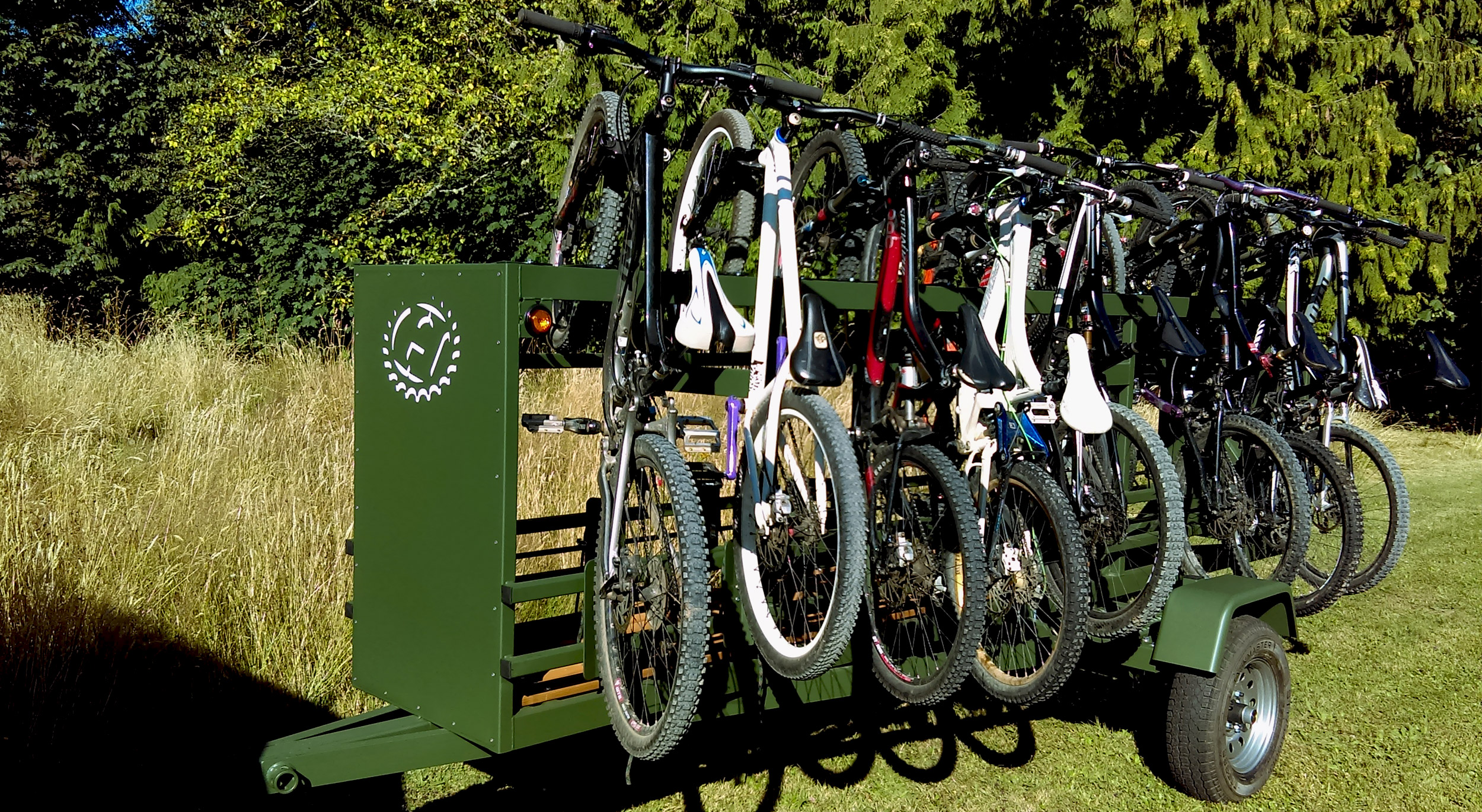 Medium Huckwagons Mountain Bike Shuttle Trailers customizable to your bike transport needs