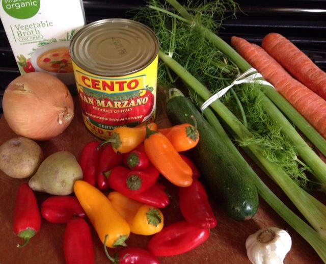 Italian Harvest Vegetable Soup Ingredients