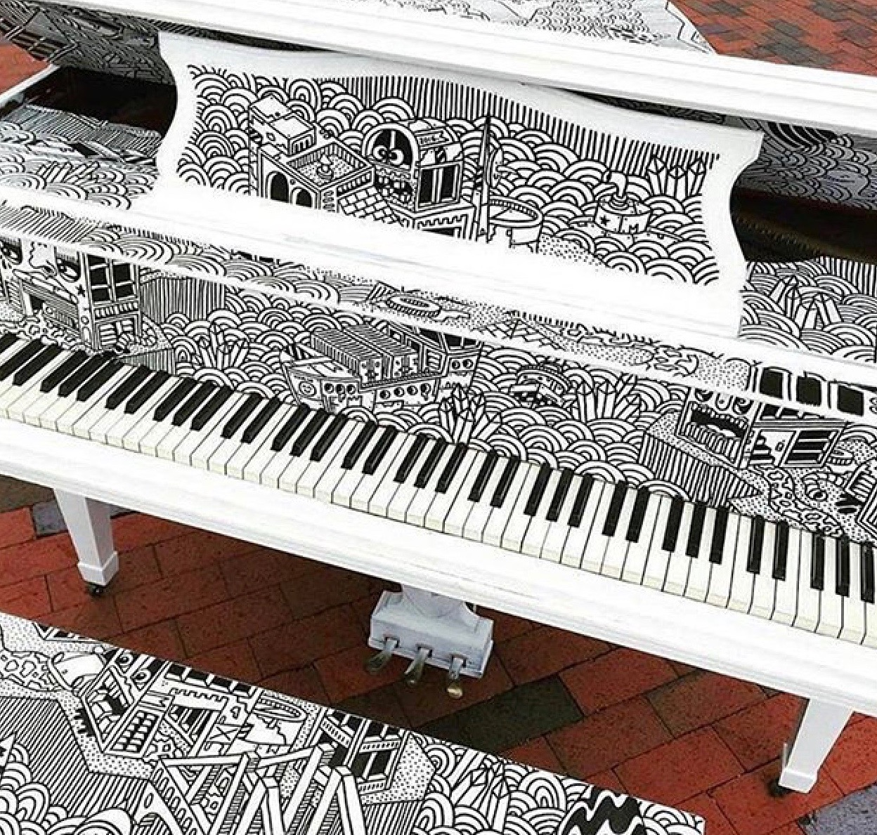 Artful Pianos... - Article and photos announcing Newton Festival of the Arts 'Artful Piano' schedule. Spring, 2016