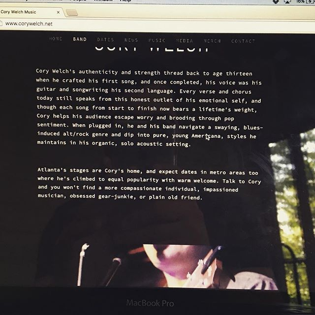 www.corywelch.net is live! Go check me out on the interwebs. #singer #songwriter #music #website