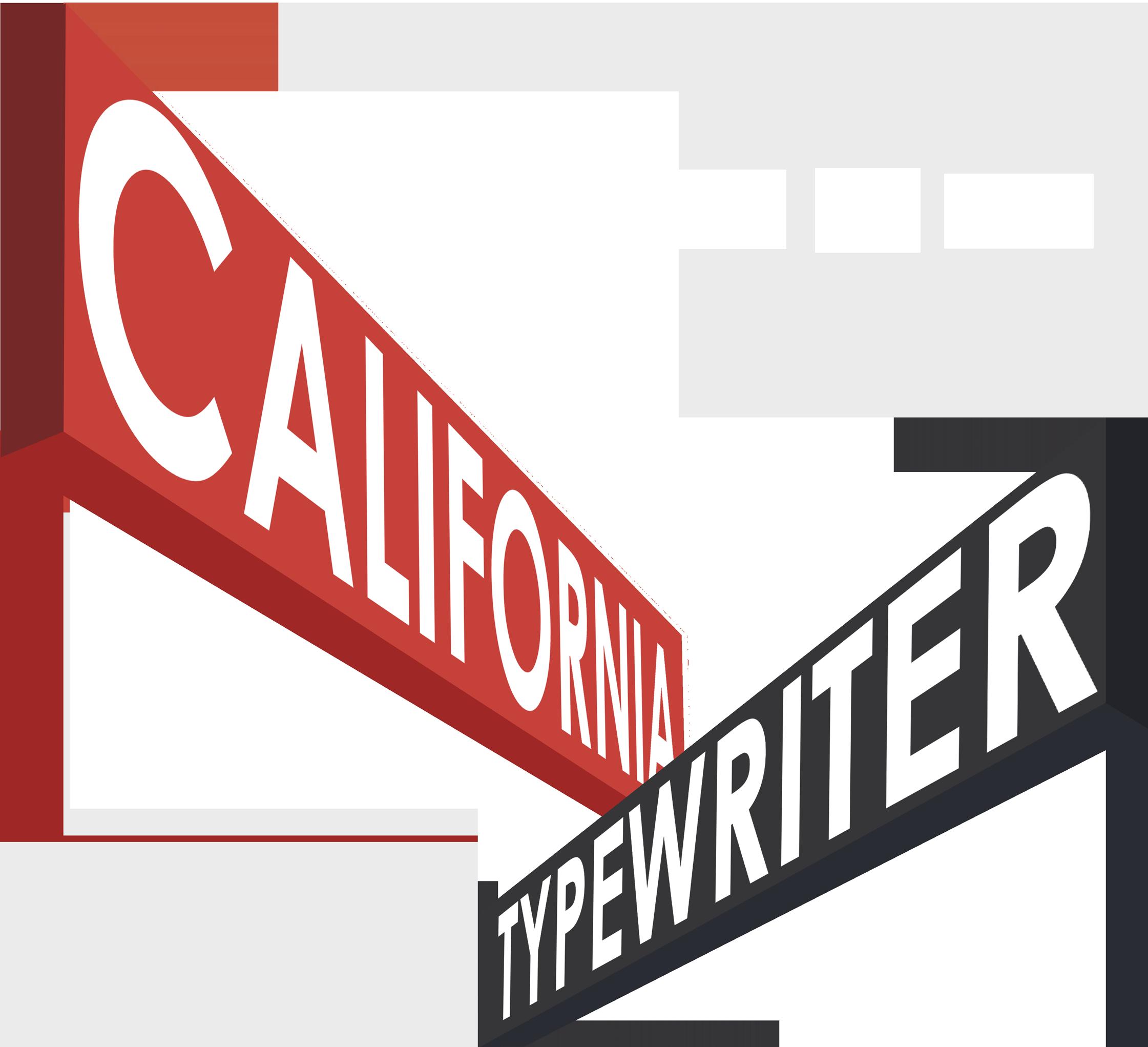 California Typewriter Logo with Laurels