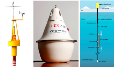 The buoys here are the AXIB, IMB, J-CAD, ICEX, and ITP. They are all in the International Arctic Buoy Programme.