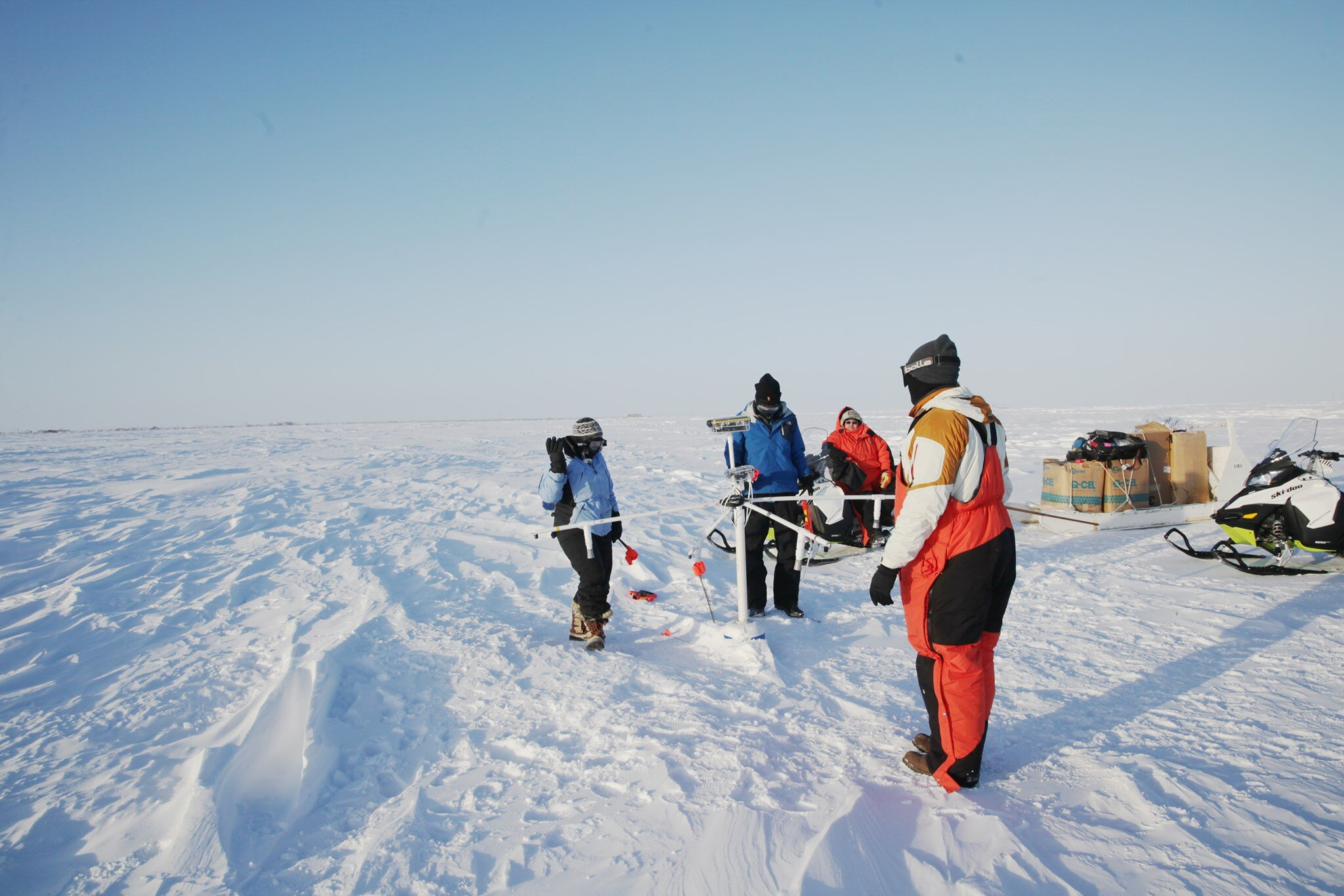 The Ice911 Research team at our Arctic Circle test site in Utqiaġvik, Alaska (also known as Barrow).