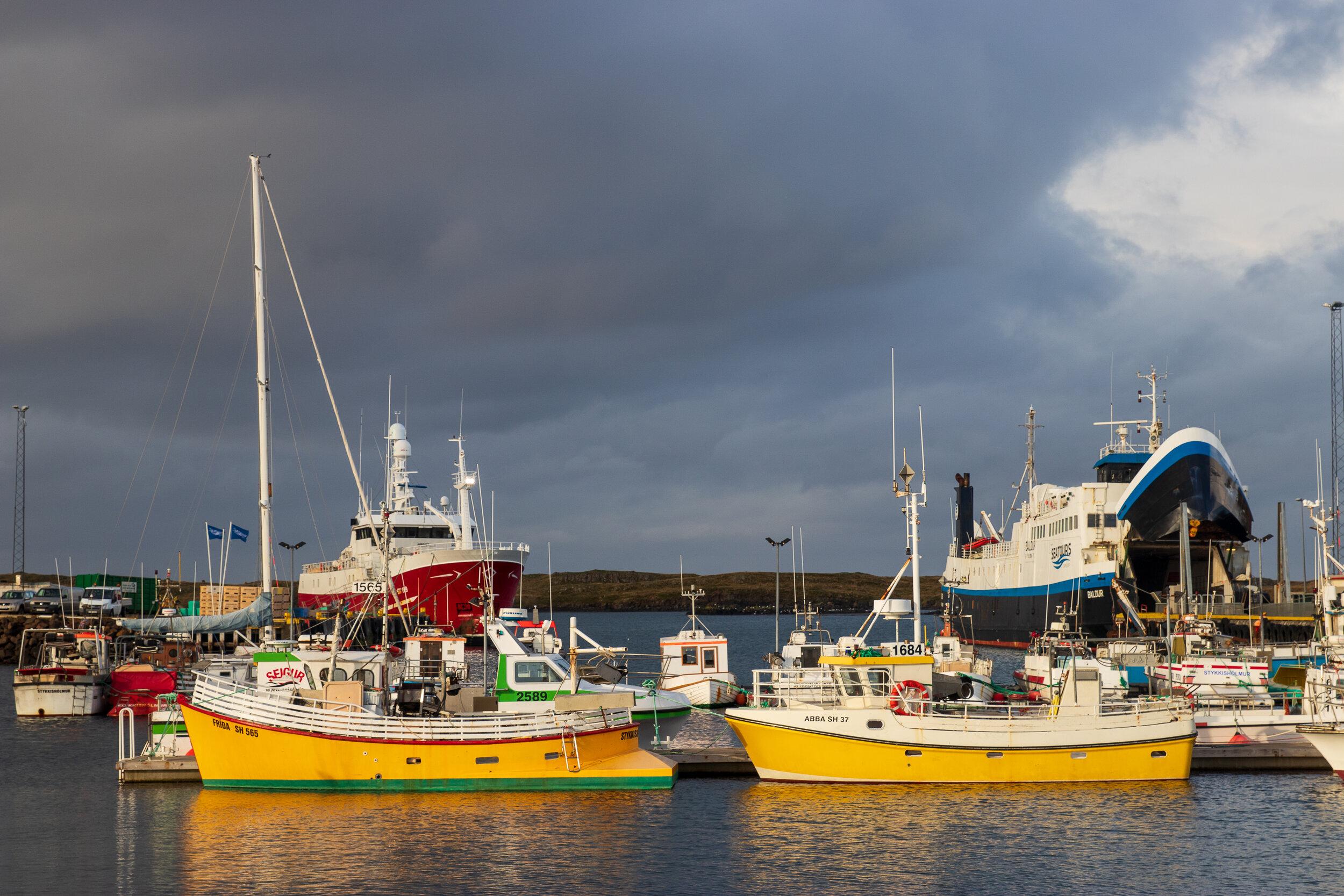 The port of Stykkishólmur.