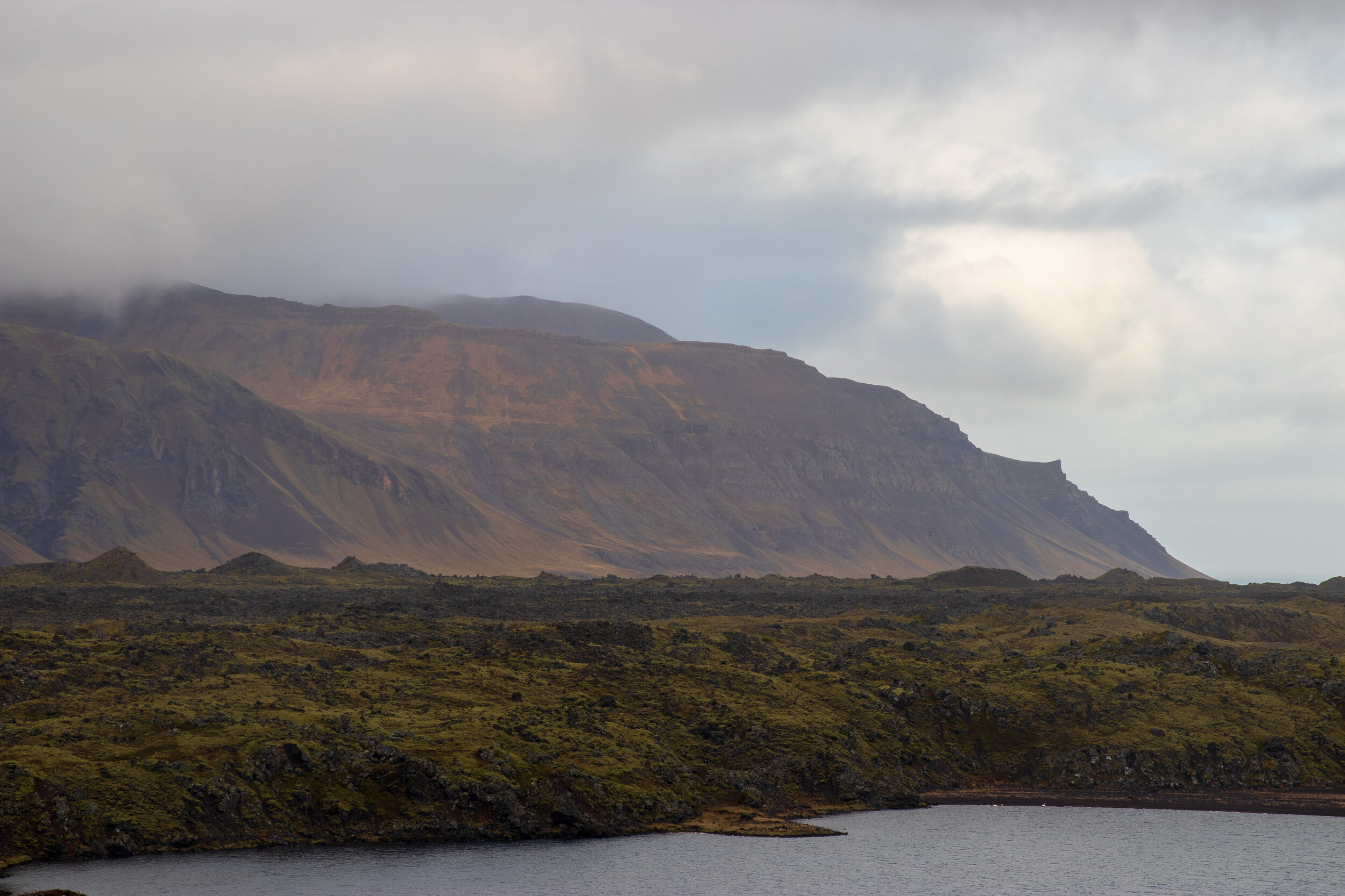 View from the pass on Road 56 on the way to Stykkishólmur.