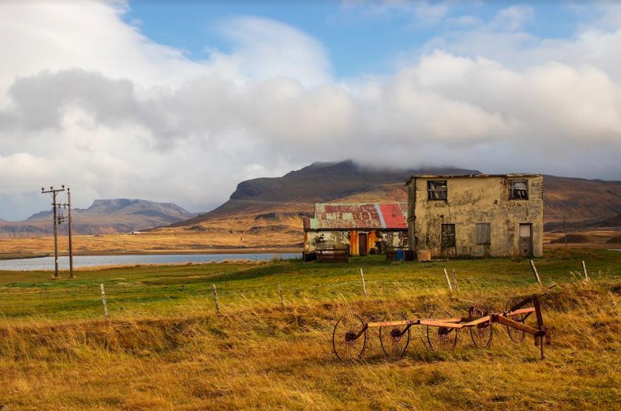 A few abandoned things near the town of Ólafsvík.