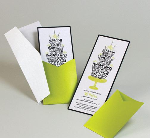 green and black modern birthday invitation cake theme.jpg
