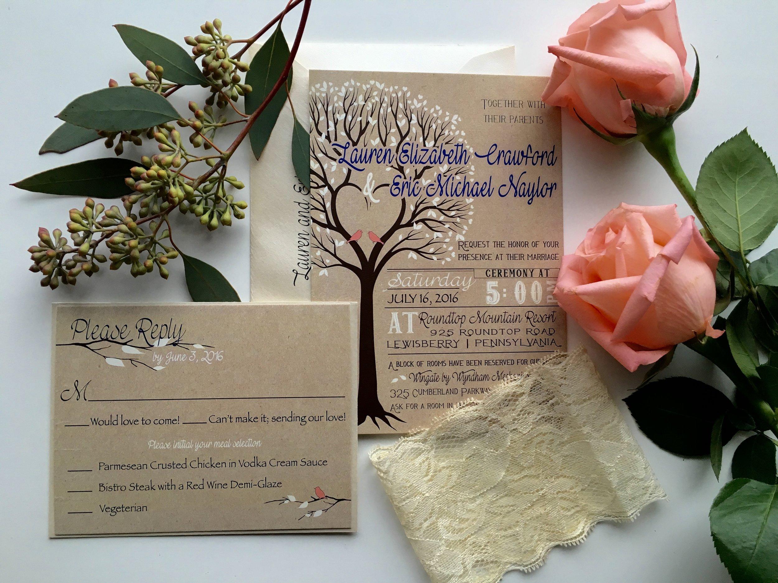 jsd kraft love bird tree romantic rustic wedding invitation.jpg