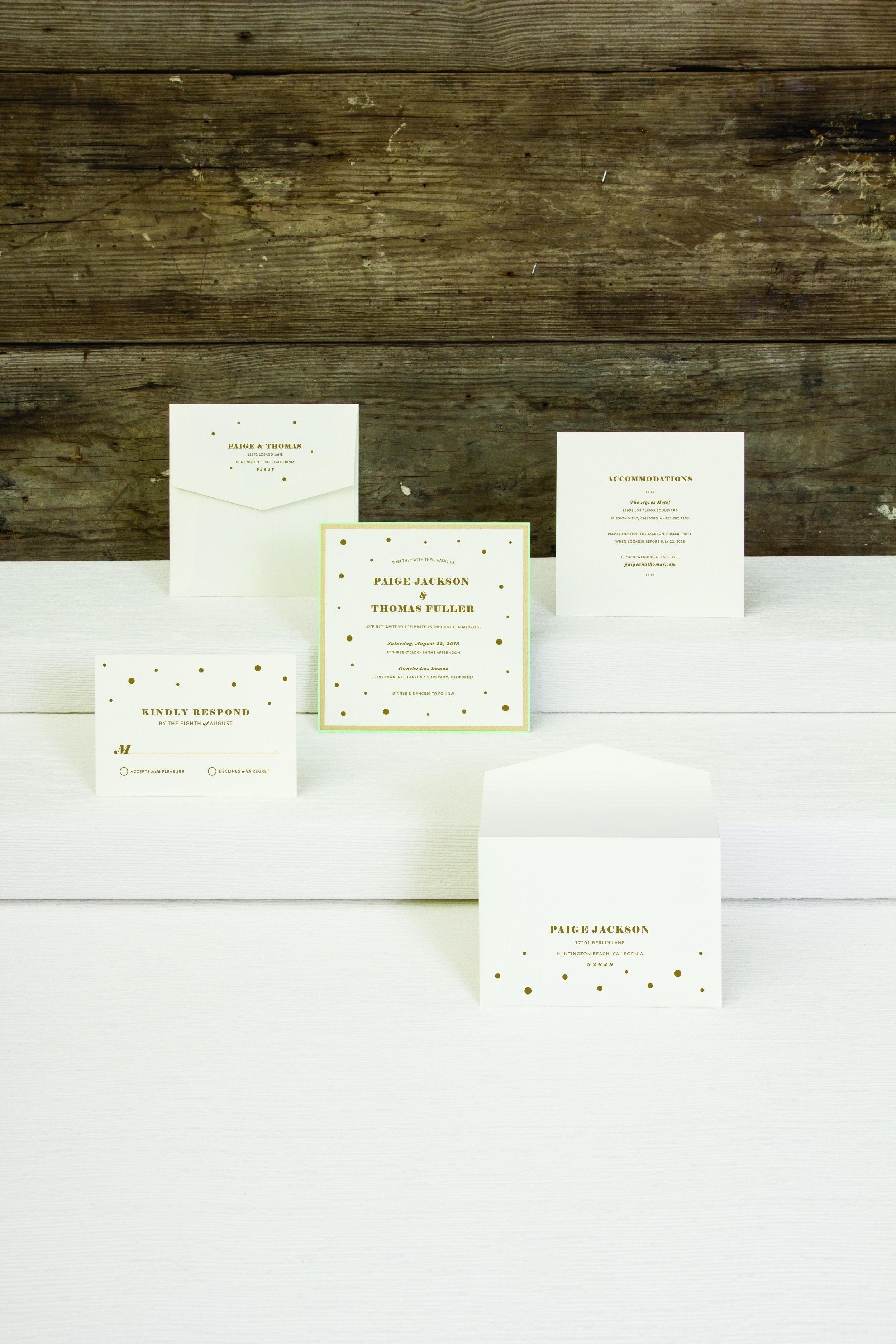 jsd-e gold polka dot square wedding invitation.jpg