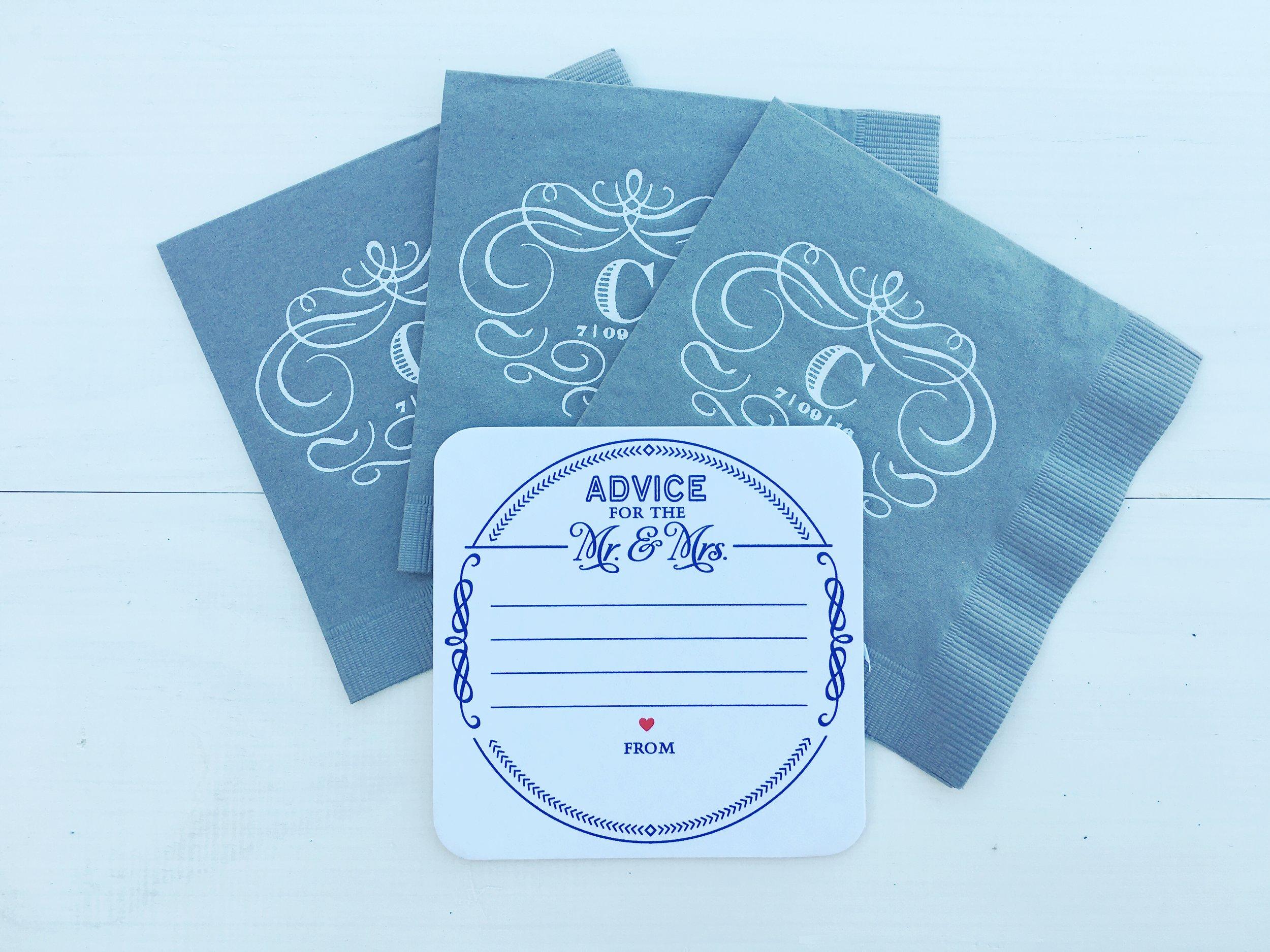 Custom pressed napkins