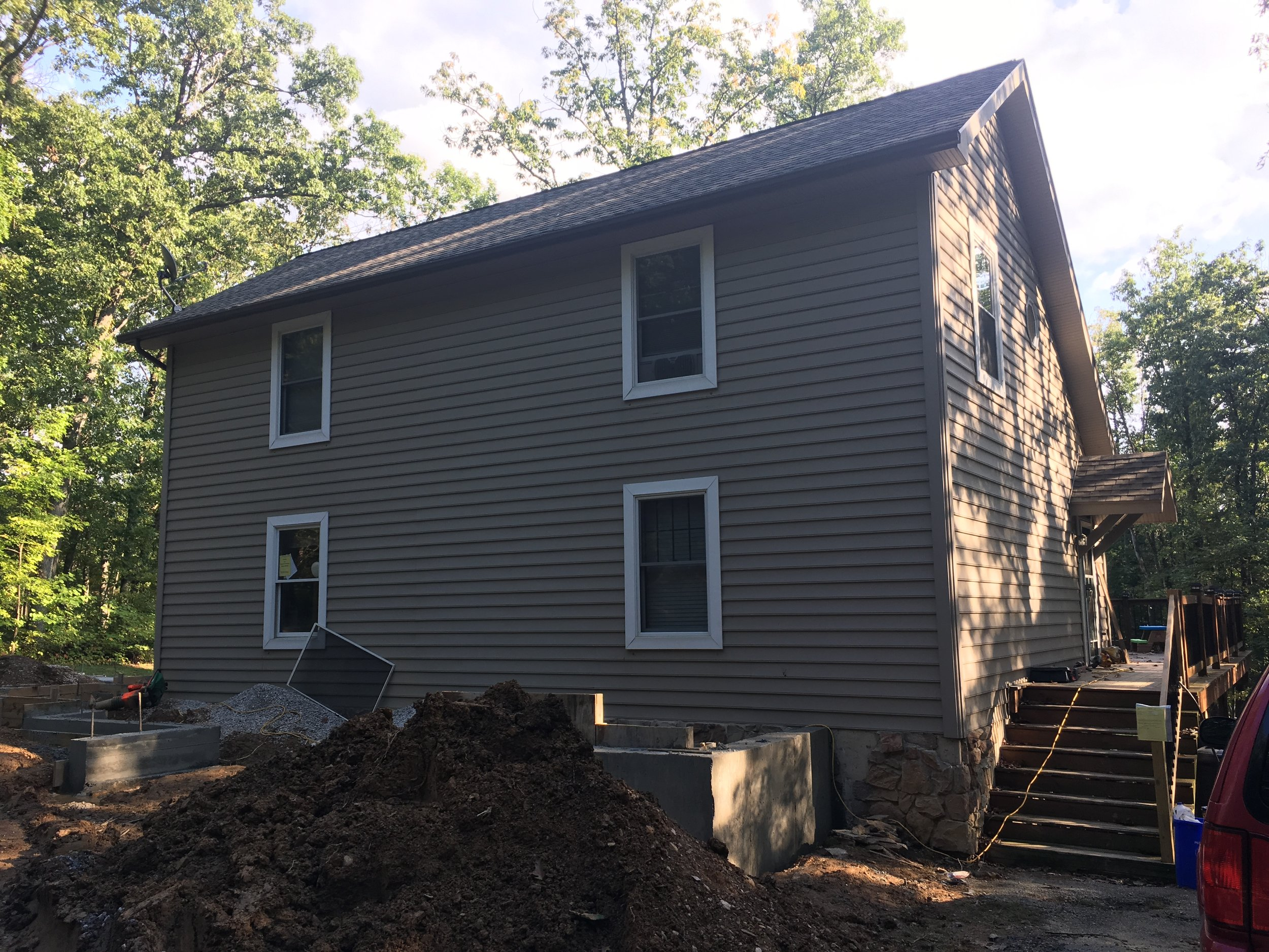 Our House, some-what before construction.