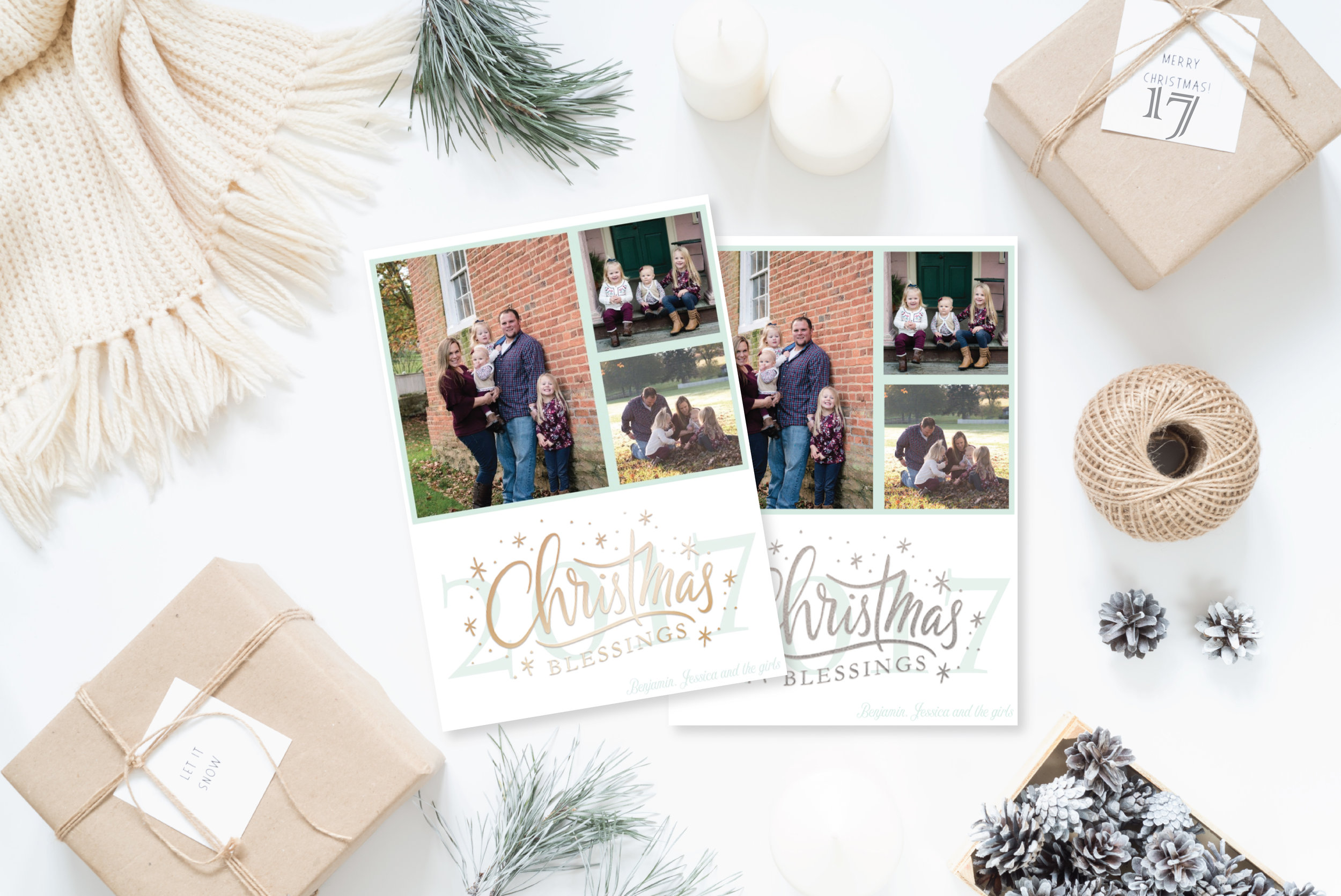 17- Styled Christmas Cards Holiday Cards 2017 2_Christmas Blessings.jpg