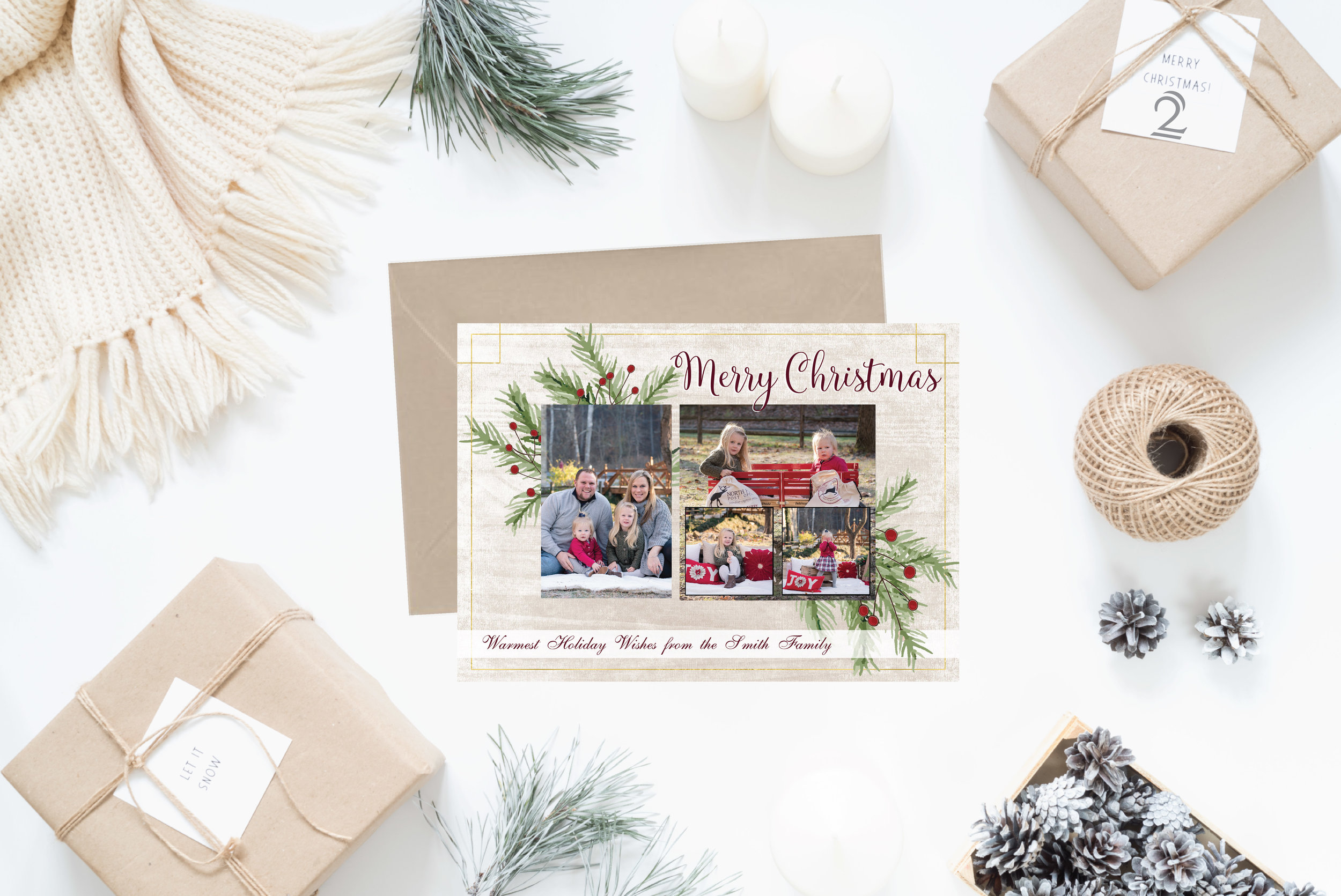 2- Christmas Cards Holiday Cards 2017 JesSmith Designs_Pine Merry Christmas.jpg