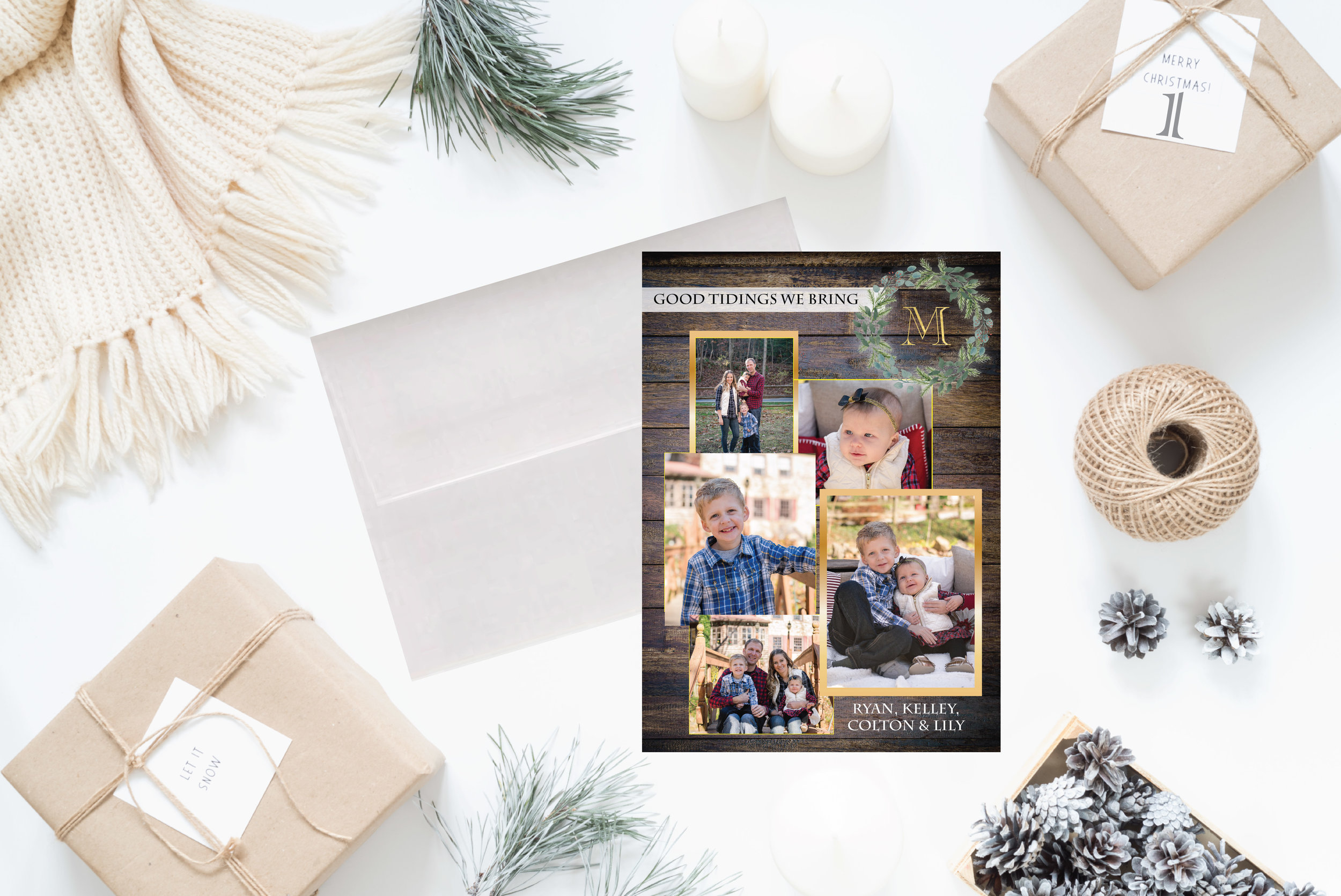 1-Christmas Cards Holiday Cards 2017 JesSmith Designs_Wooden Good Tidings.jpg