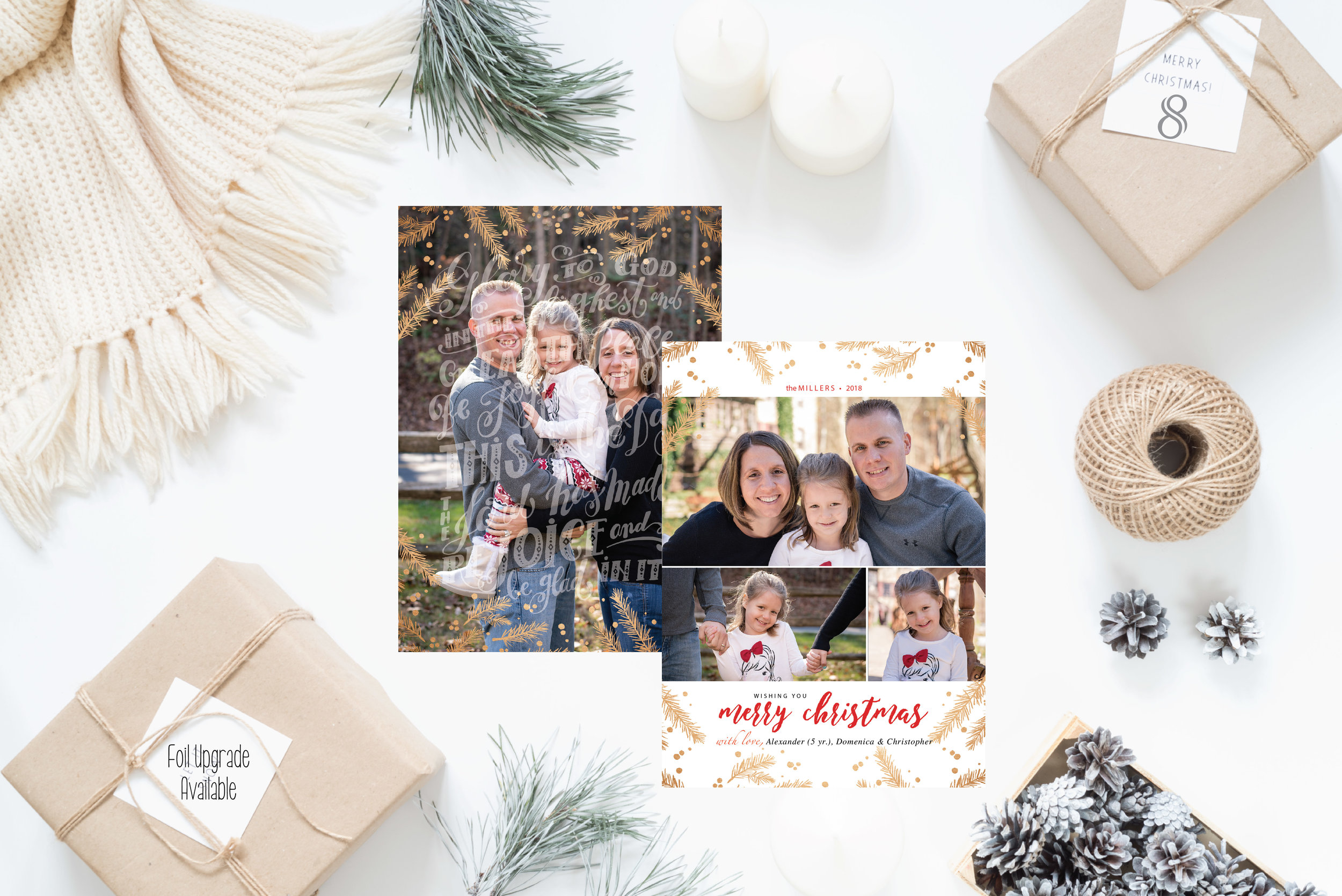 8- Christmas Cards Holiday Cards 2017 JesSmith Designs_Pine Foil Overlay.jpg
