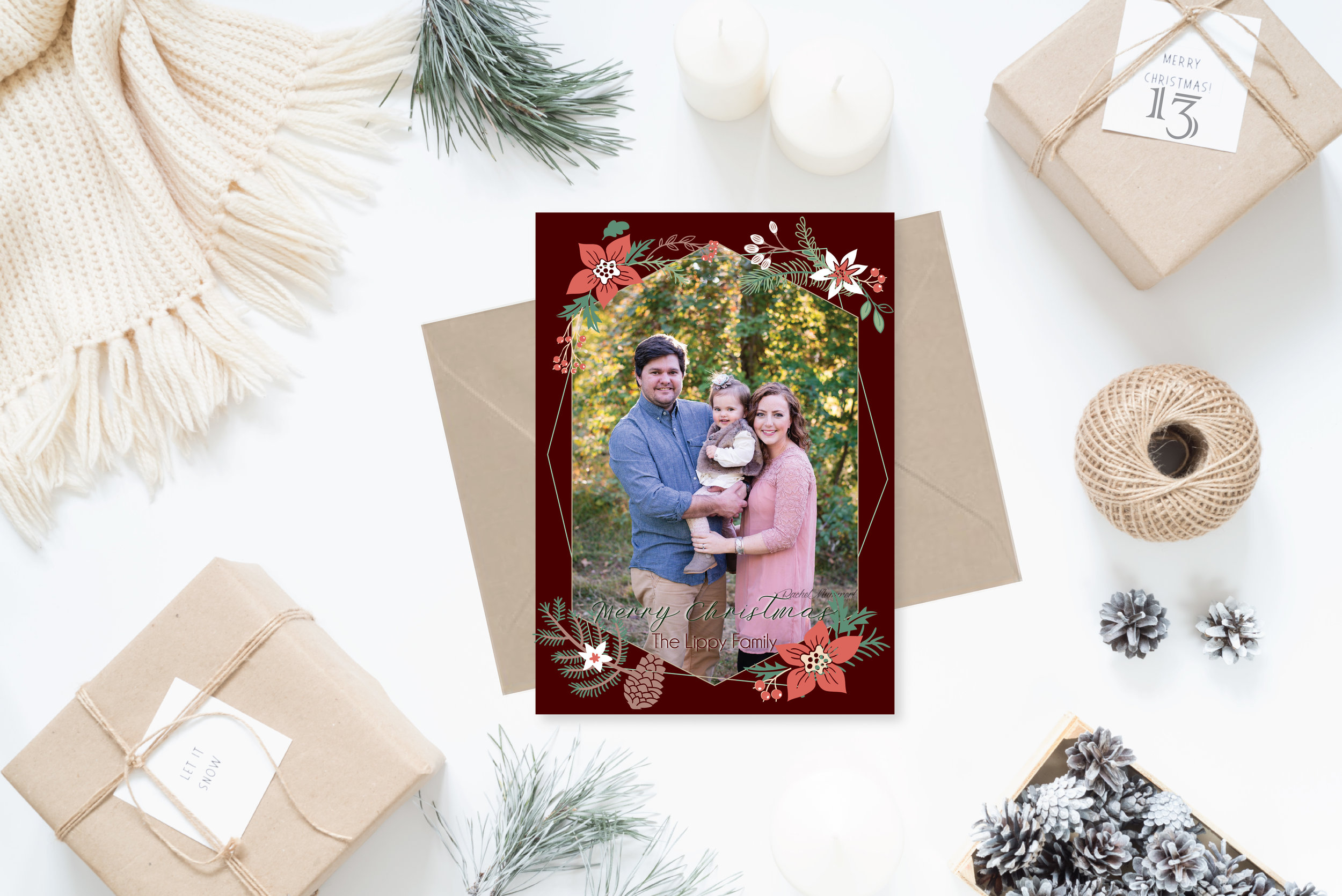 13- Styled Christmas Cards Holiday Cards 2017 2_Christmas Foliage Geometric.jpg