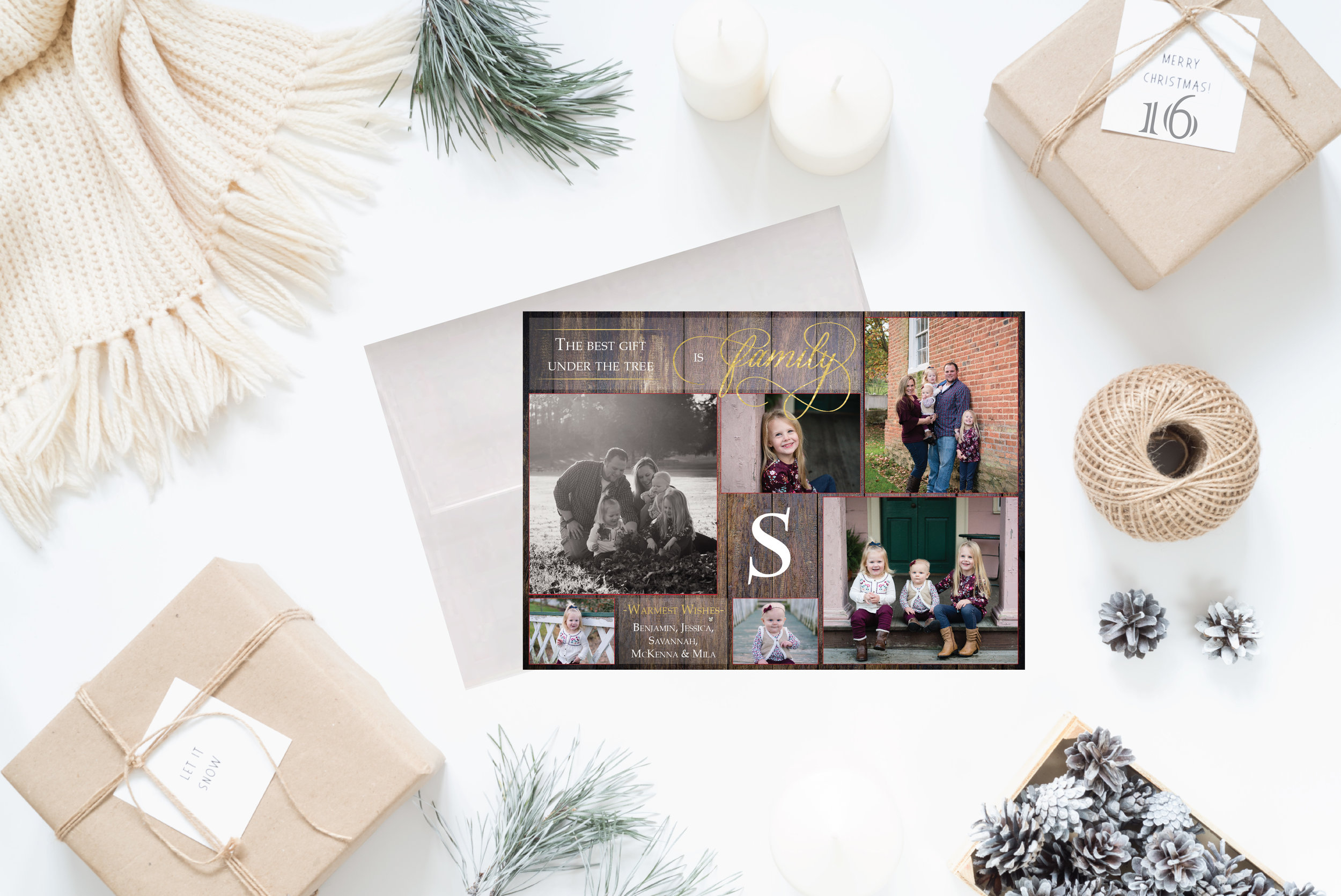 16- Styled Christmas Cards Holiday Cards 2017 2_The best gift is family II.jpg