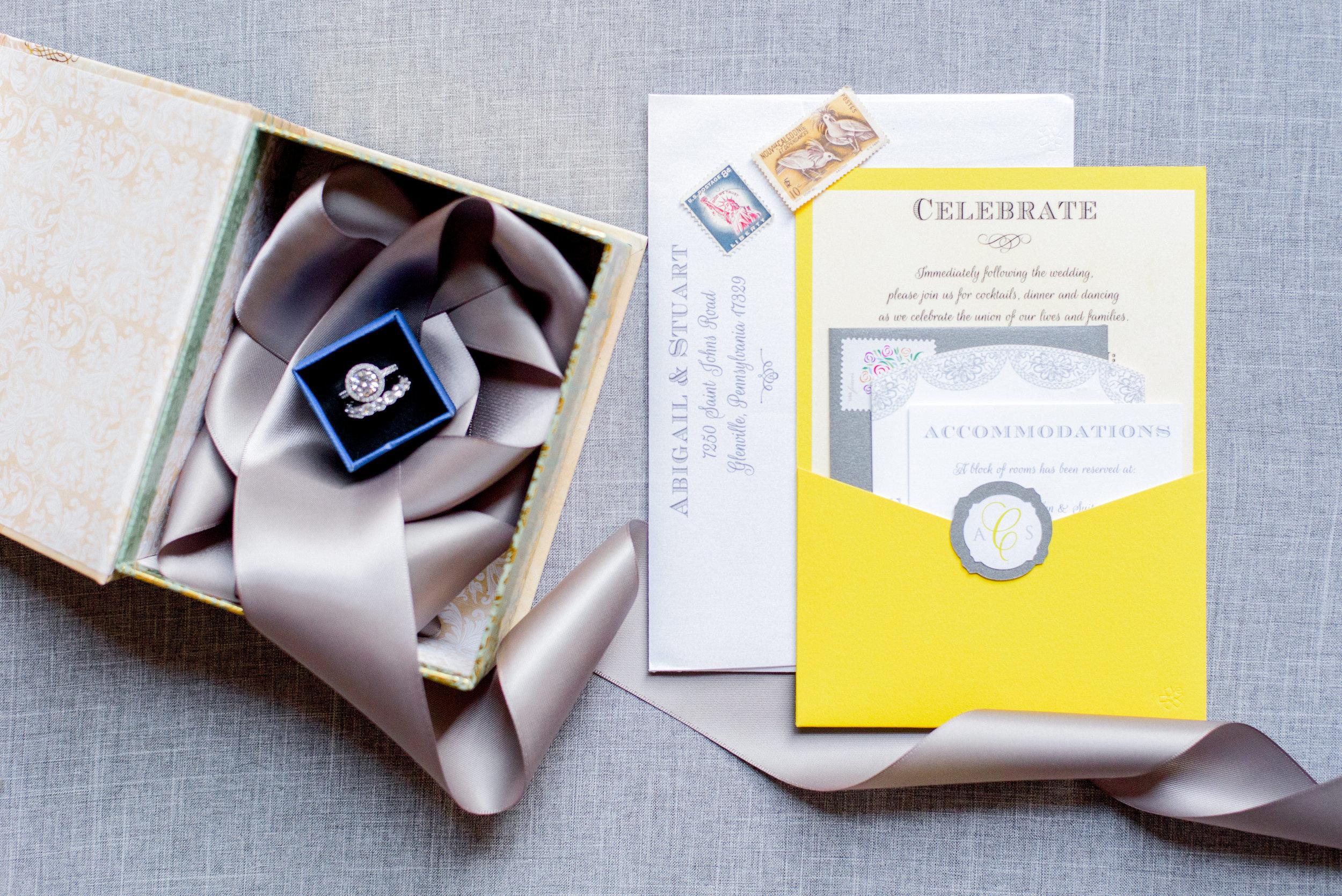 Yellow Central PA, York PA, JesSmith Designs, custom, wedding, invitations, bridal, announcements, save the date, baby, hanover, calligraphy, baltimore, wedding invitations, lancaster, gettysburg Gray-0037.jpg