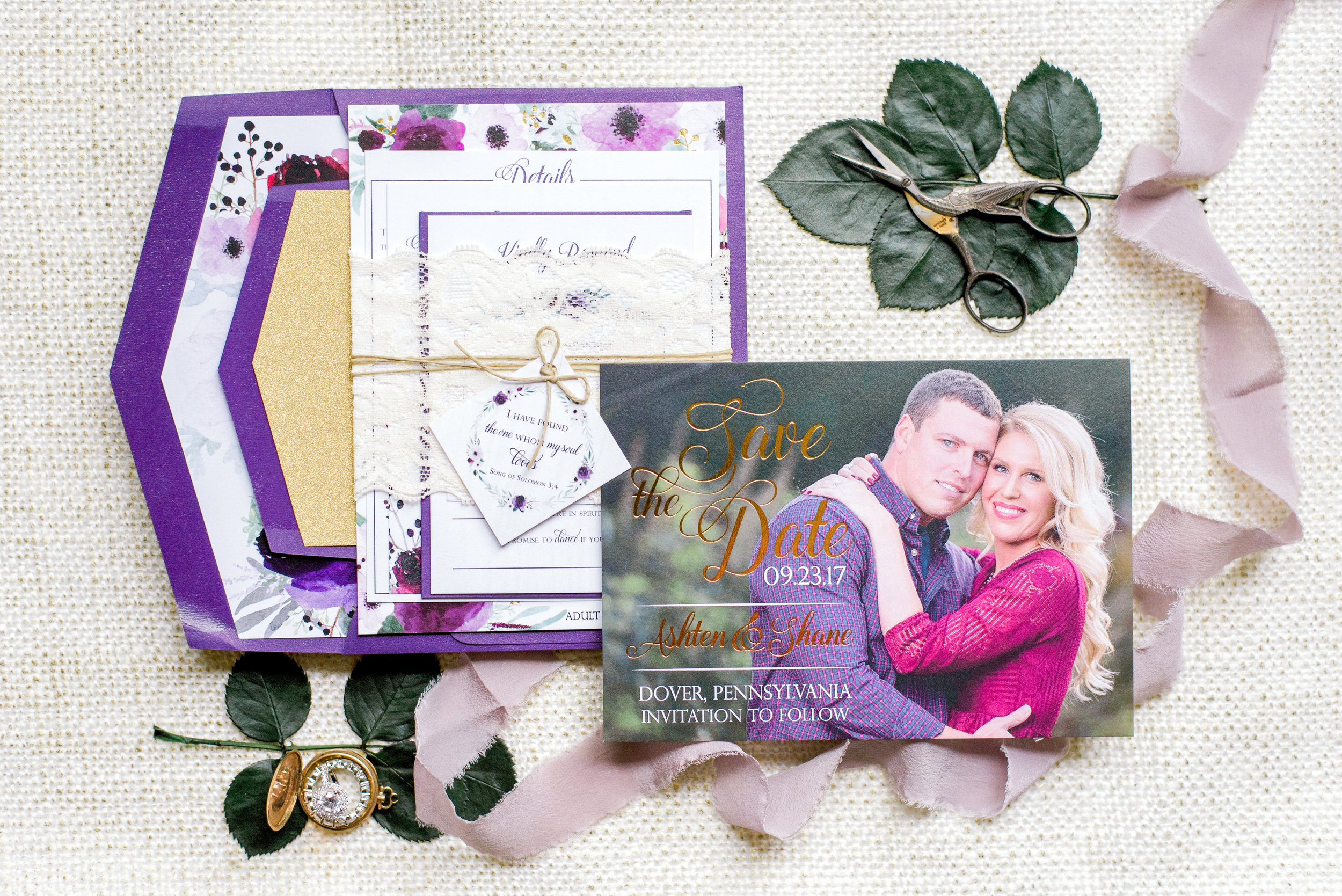 Ashtens wedding invitation suite Photography by Krista Brackin Photography